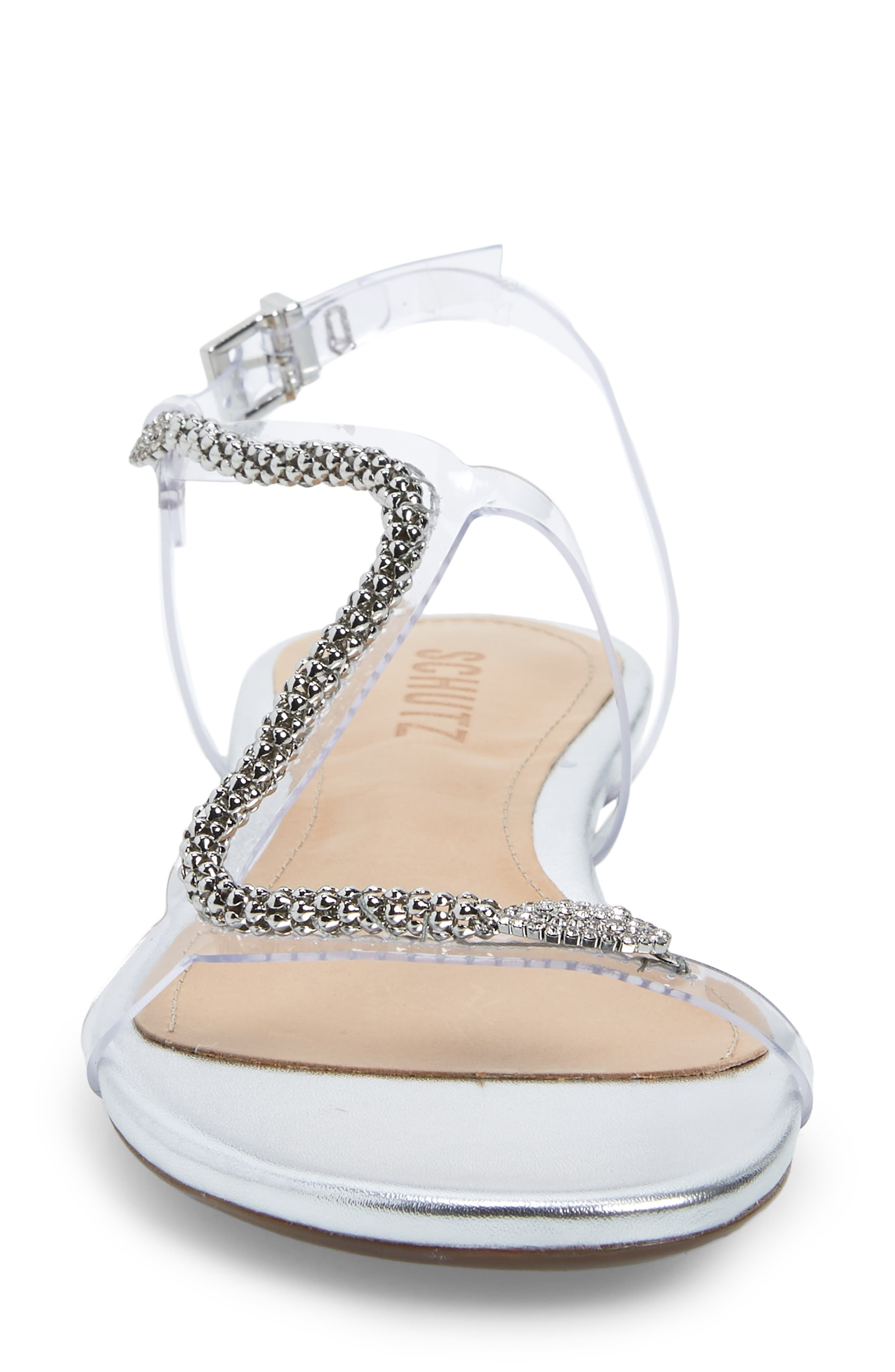 Gabbyl Embellished Sandal,                             Alternate thumbnail 4, color,                             PRATA