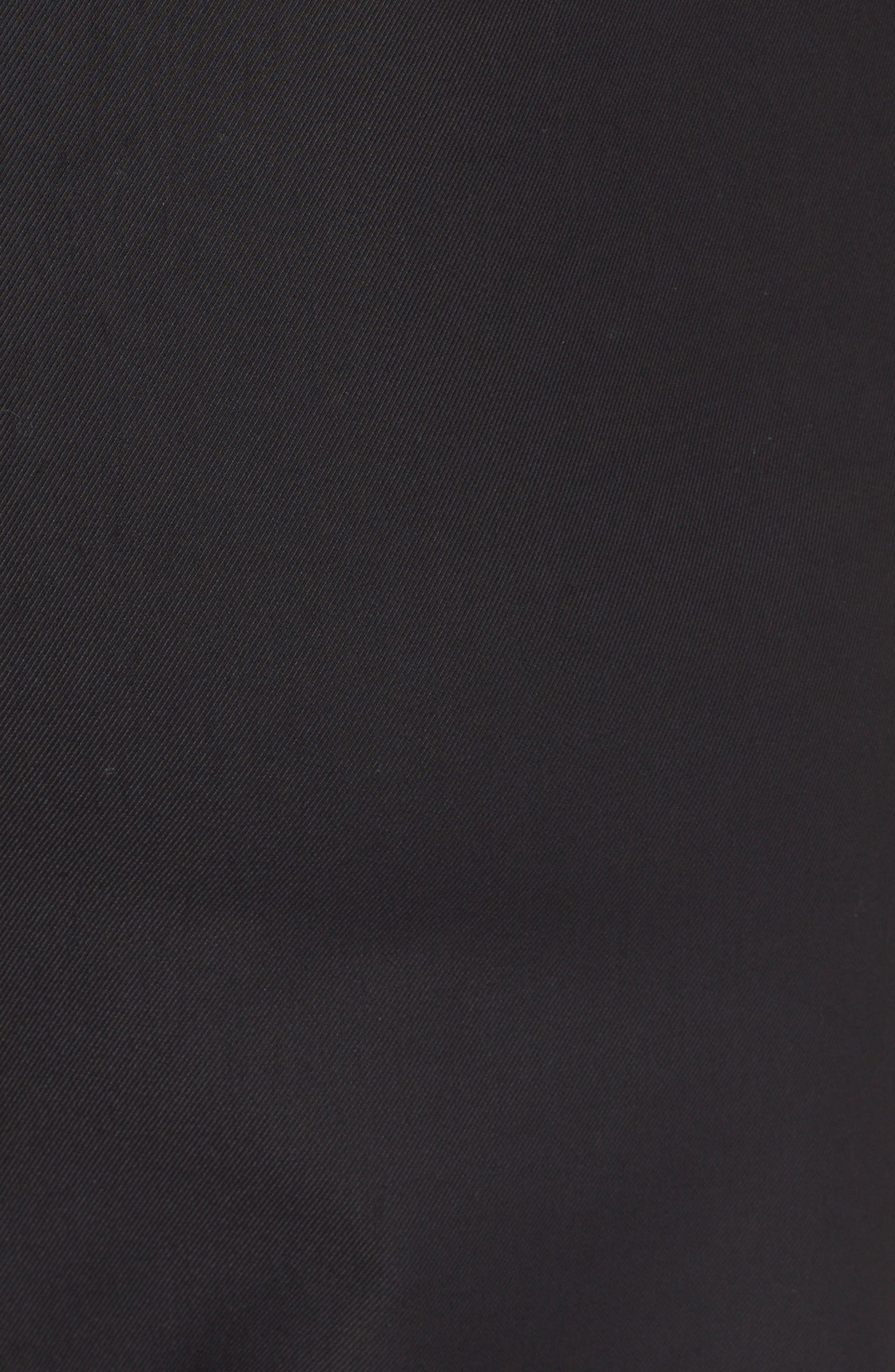 LELA ROSE,                             'Catherine' Stretch Twill Ankle Pants,                             Alternate thumbnail 6, color,                             BLACK