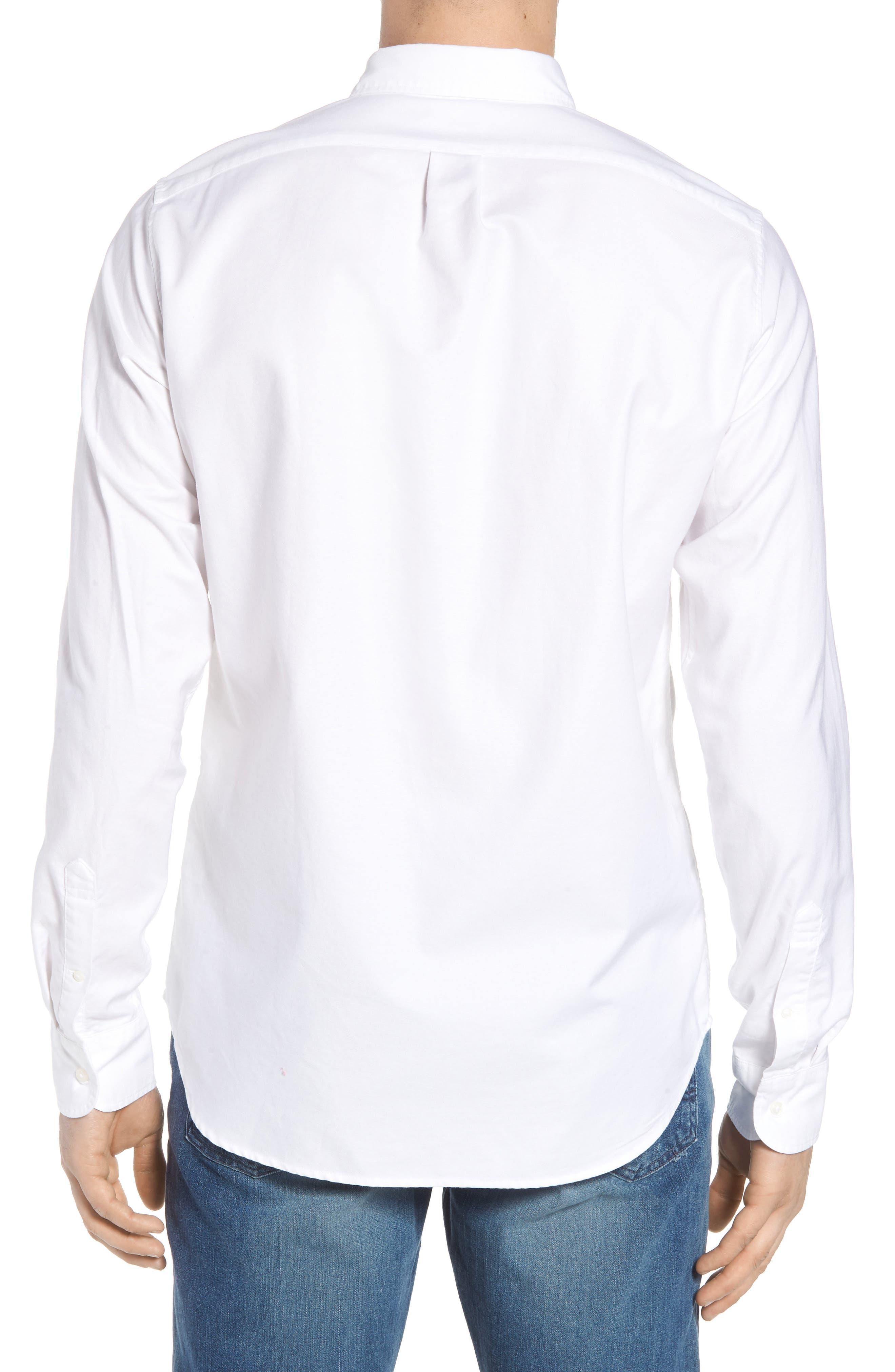 Classic Fit Stretch Pima Cotton Oxford Shirt,                             Alternate thumbnail 2, color,                             104