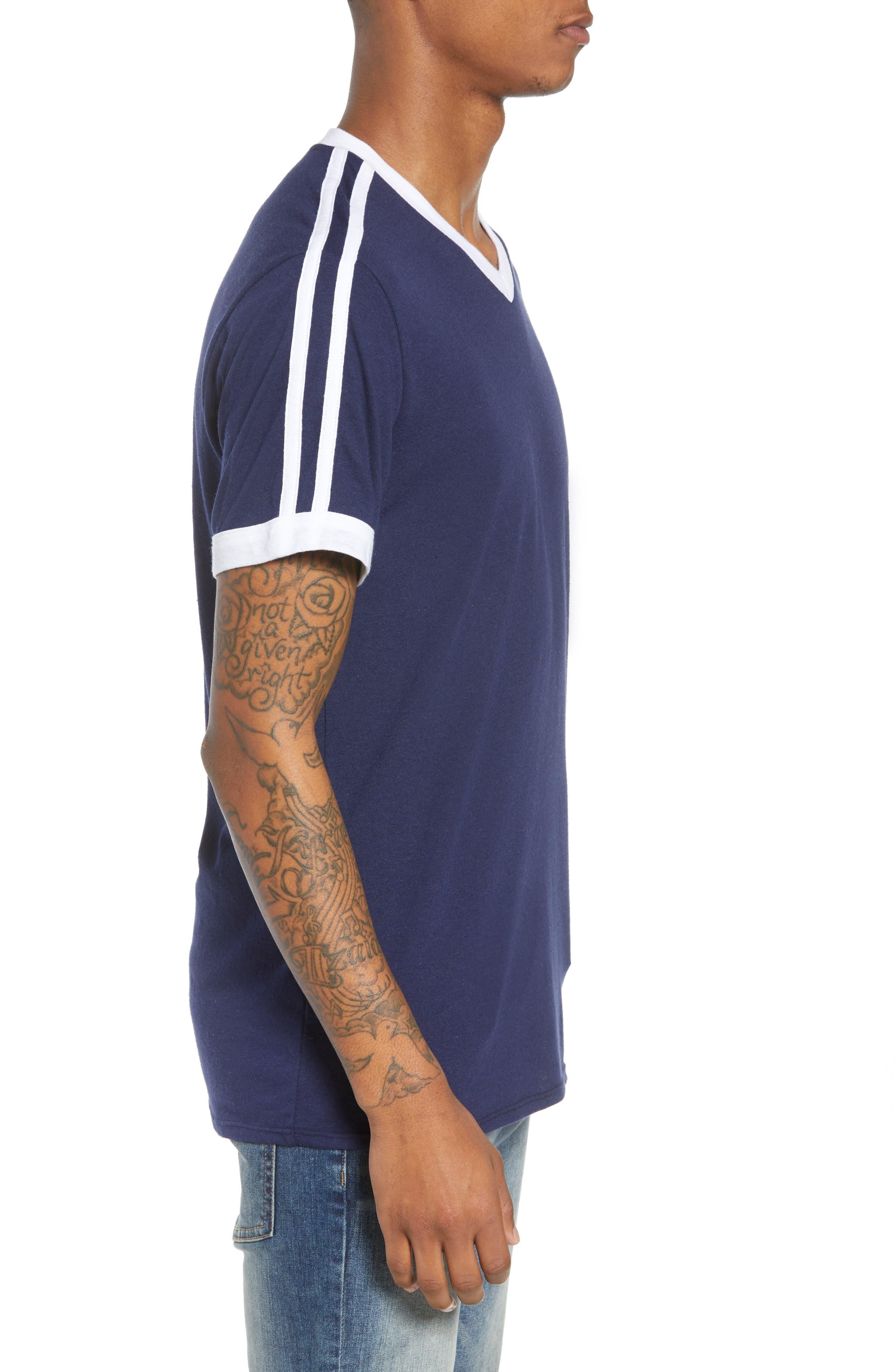Vintage Athletic V-Neck T-Shirt,                             Alternate thumbnail 3, color,                             410