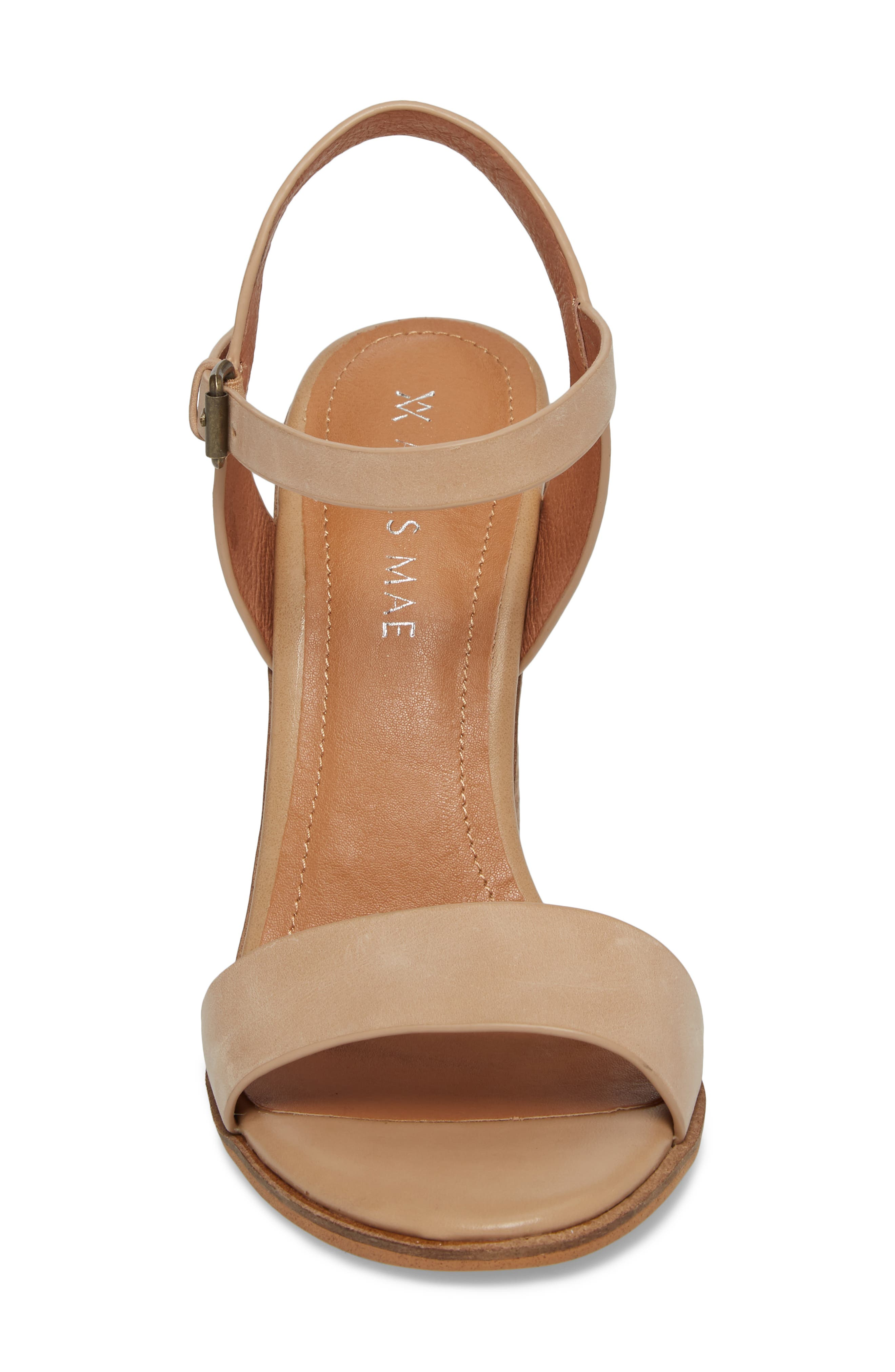Abagail Sandal,                             Alternate thumbnail 4, color,                             NATURAL LEATHER