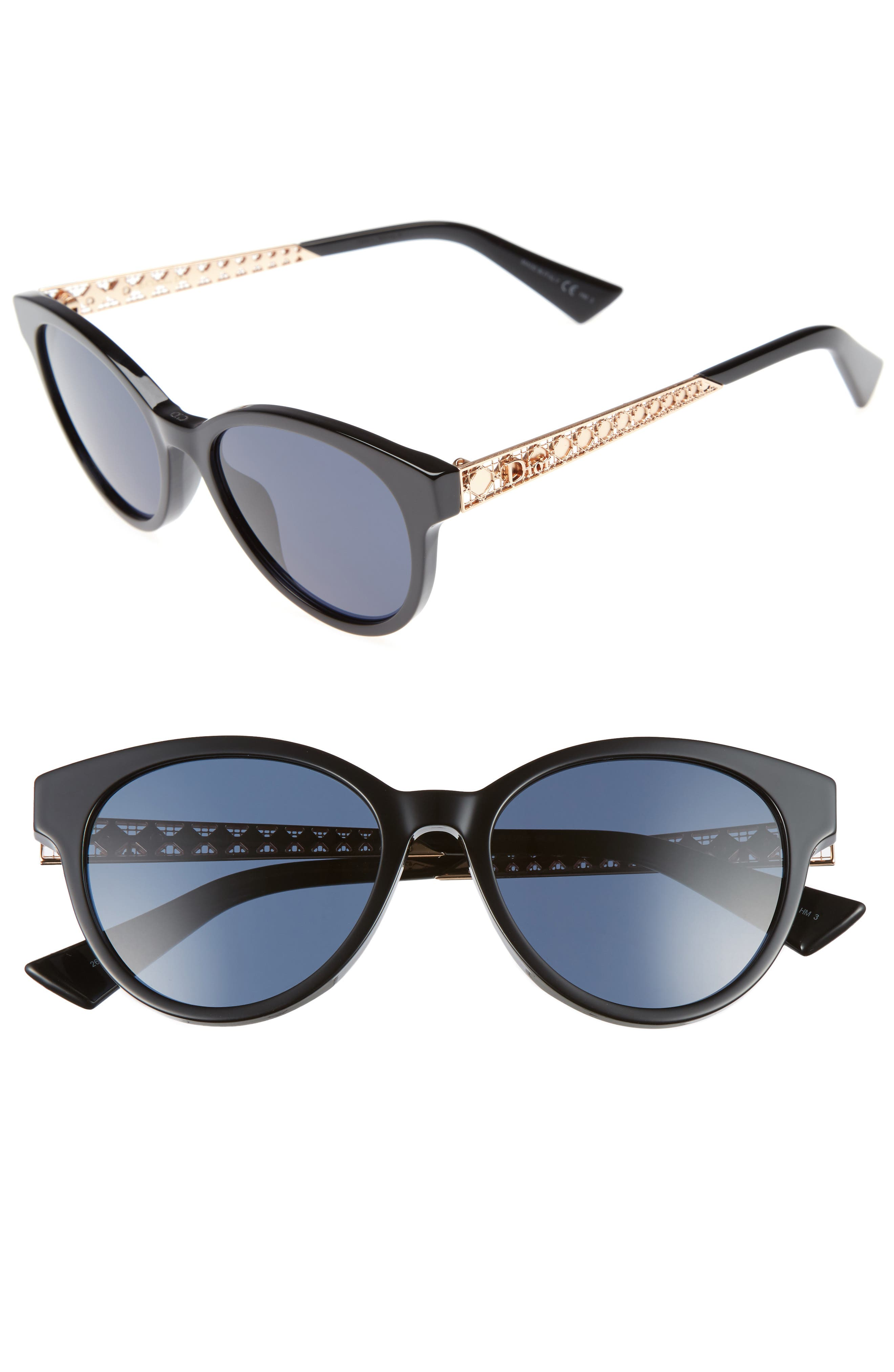 Diorama Mini 52mm Mirrored Lens Special Fit Sunglasses,                             Main thumbnail 1, color,                             001