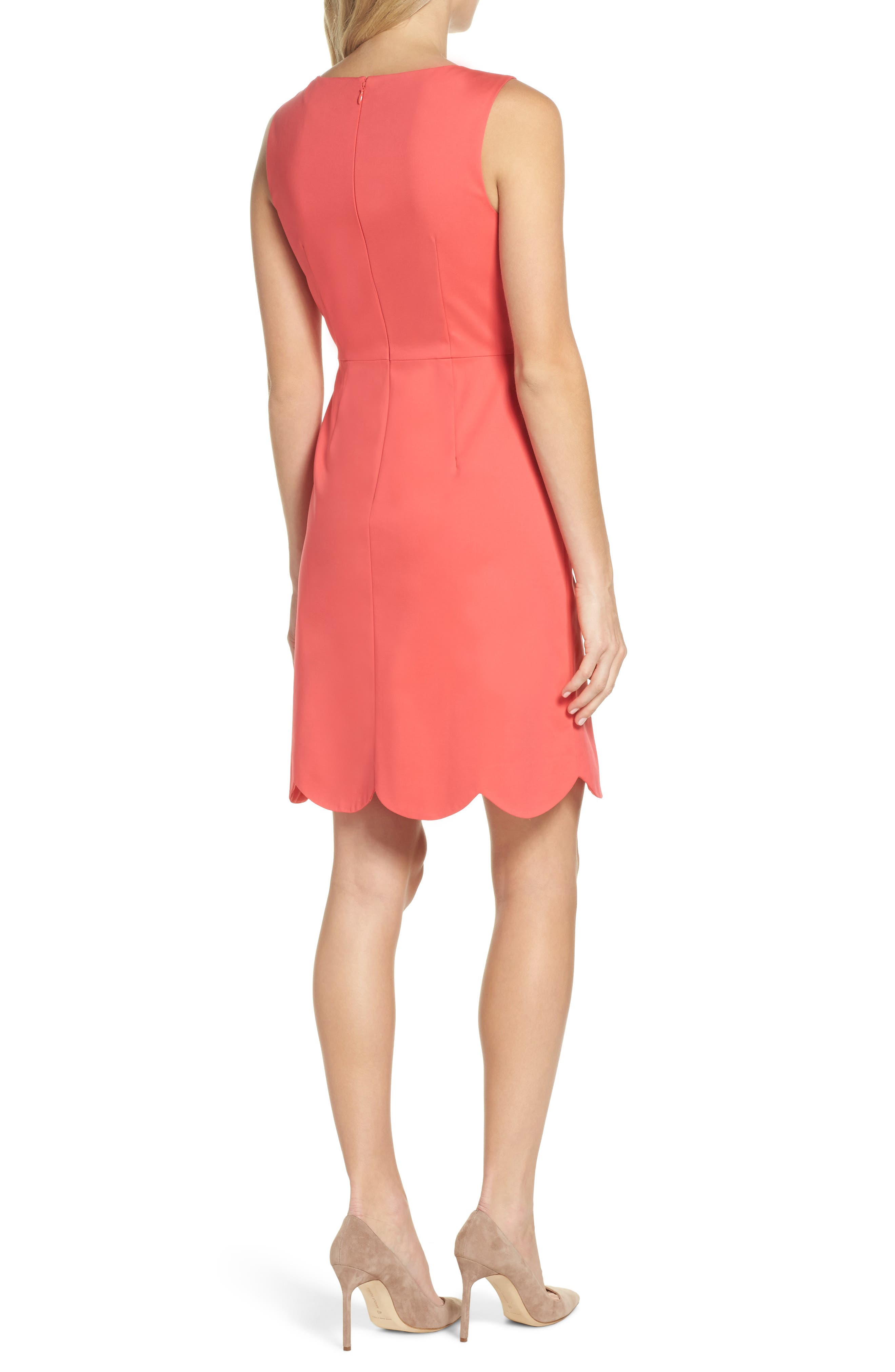 Elsa Scalloped Sheath Dress,                             Alternate thumbnail 2, color,                             650