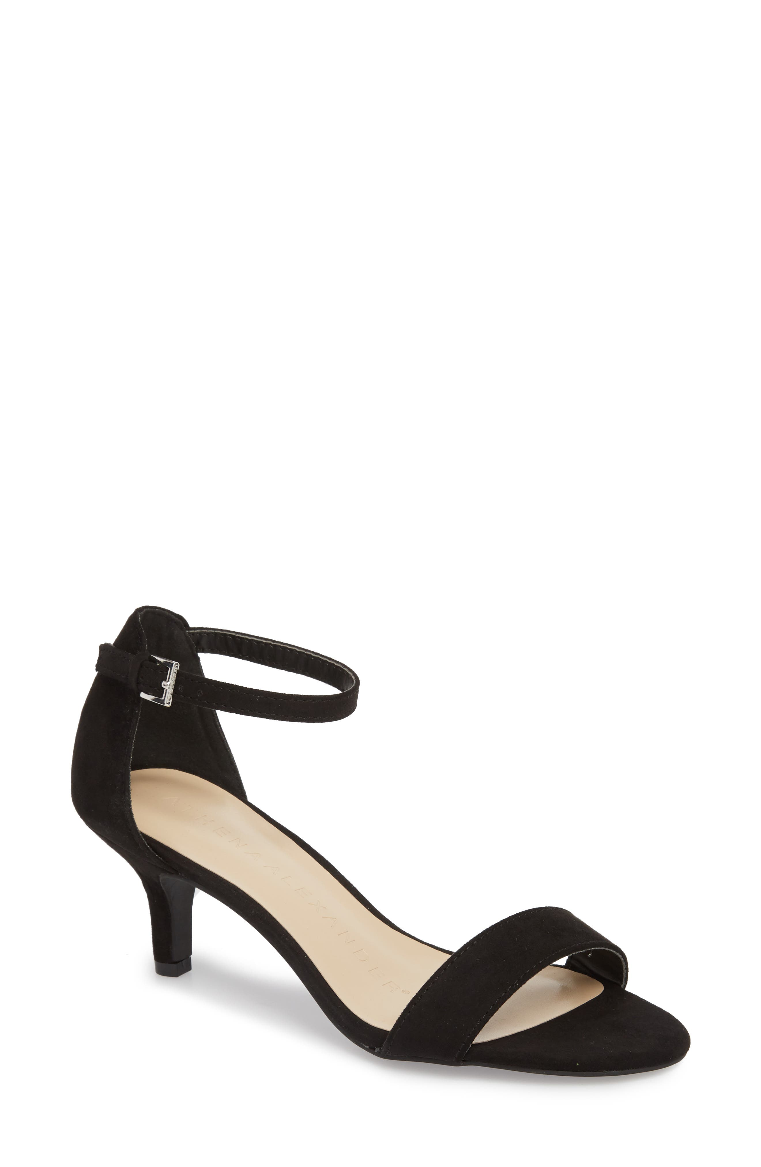 Monroe Sandal,                             Main thumbnail 1, color,                             BLACK SUEDE