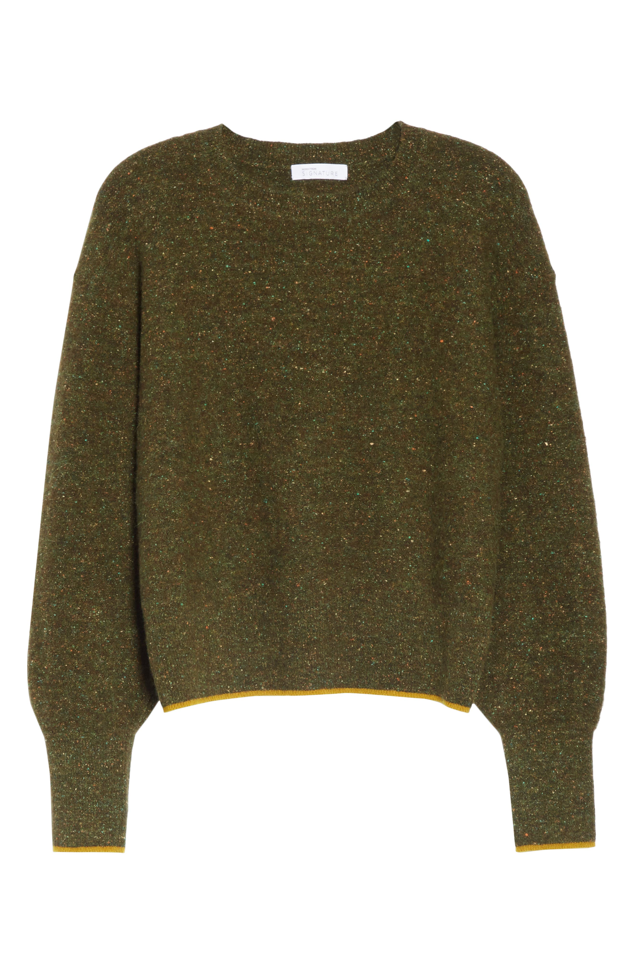 Tweed Knit Sweater,                             Alternate thumbnail 6, color,                             310