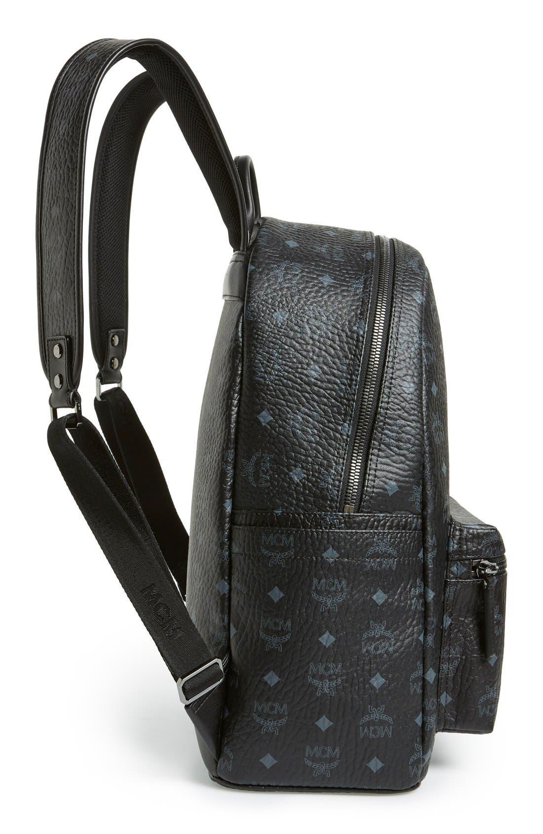Medium Stark - Visetos Backpack,                             Alternate thumbnail 5, color,                             BLACK