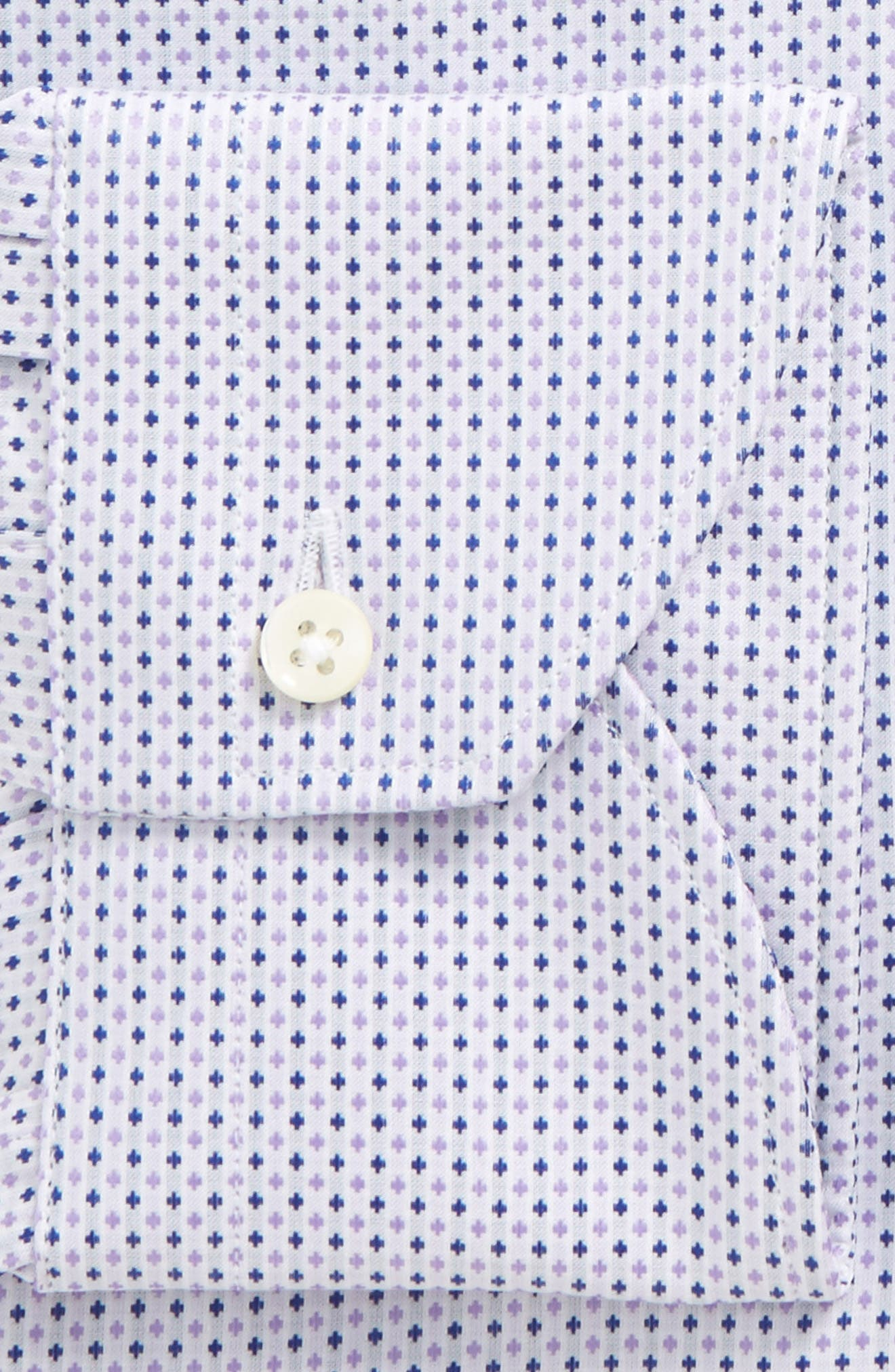 Regular Fit Geometric Dress Shirt,                             Alternate thumbnail 2, color,                             530