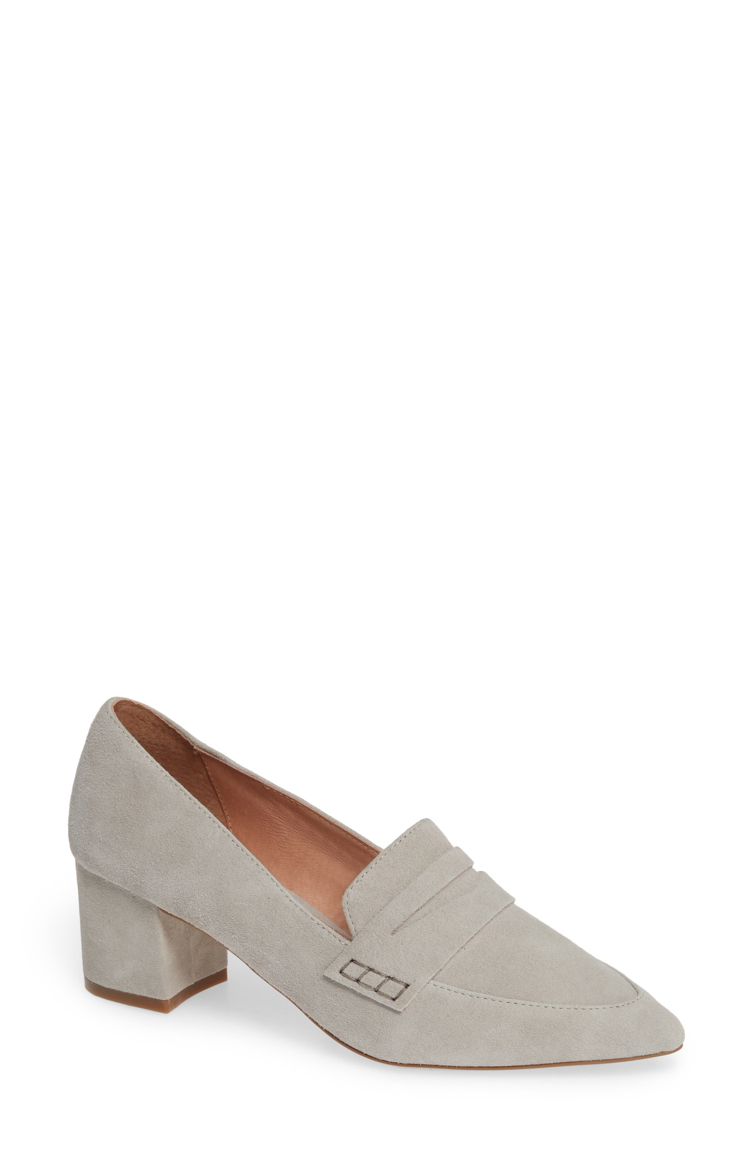 Isabelle Pointy Toe Pump,                             Main thumbnail 1, color,                             LIGHT GREY SUEDE
