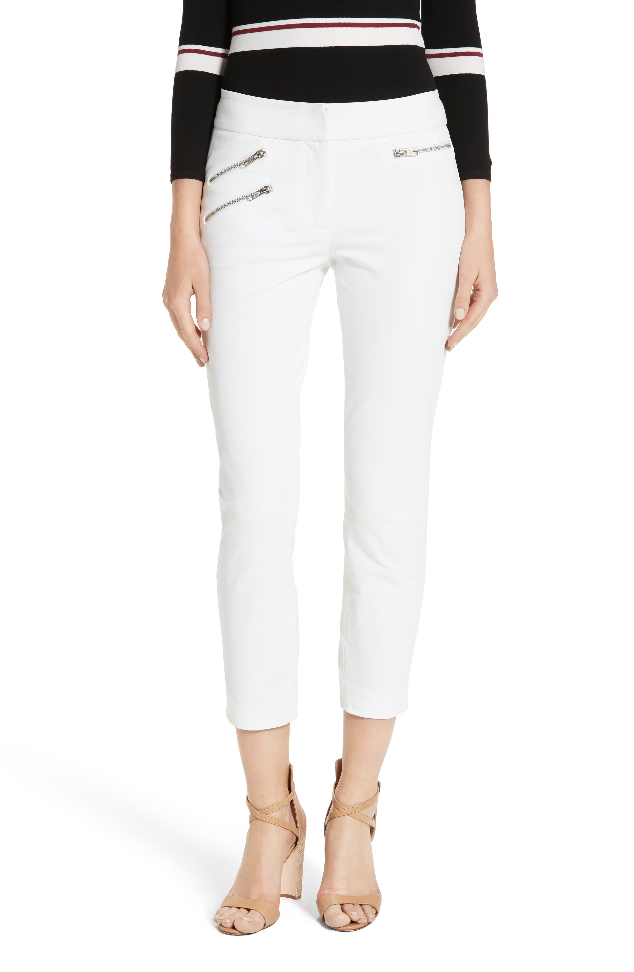 Roxy Crop Pants,                             Main thumbnail 1, color,                             WHITE