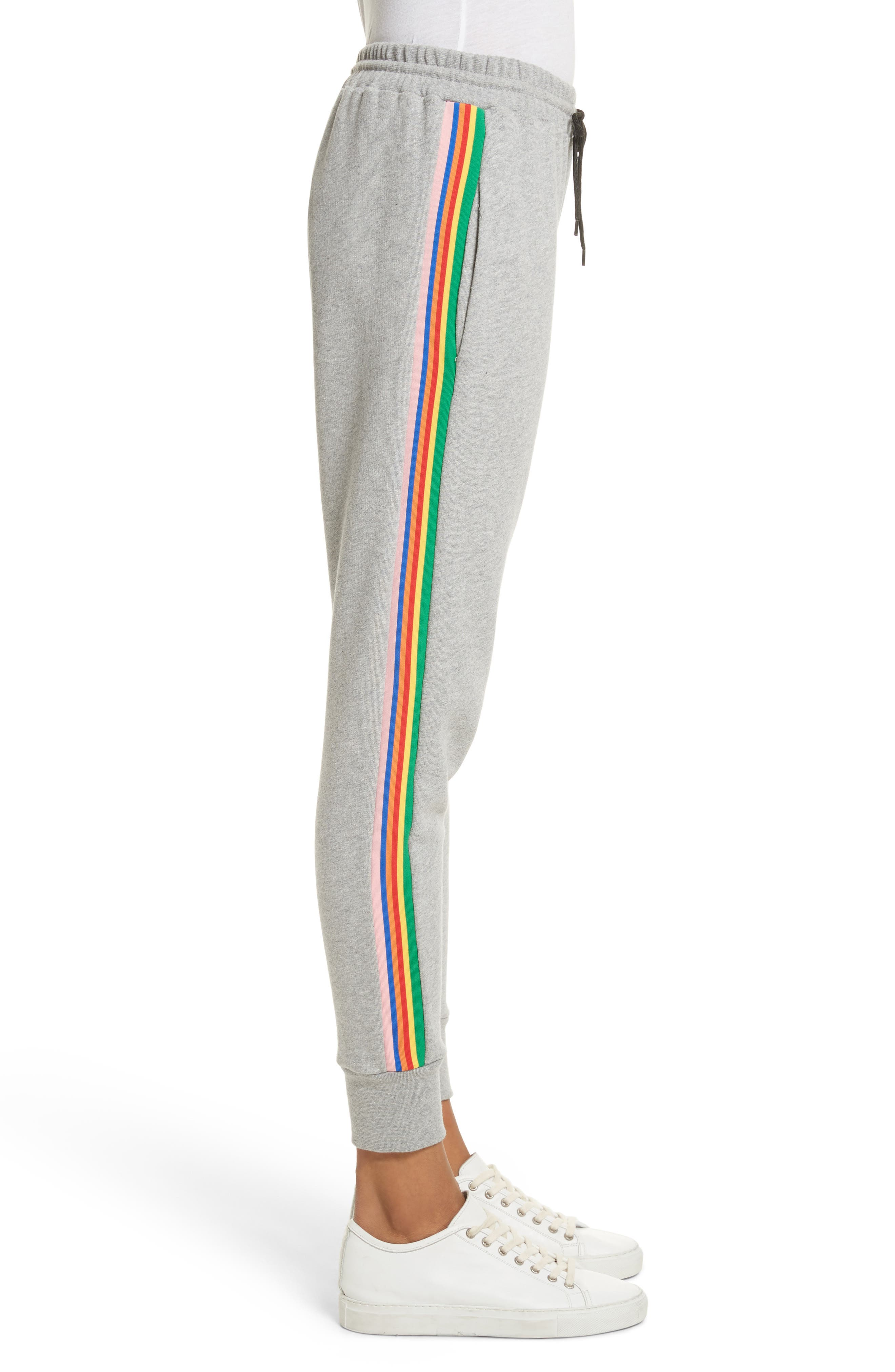 être cécile Rainbow Stripe Track Pants,                             Alternate thumbnail 3, color,                             020