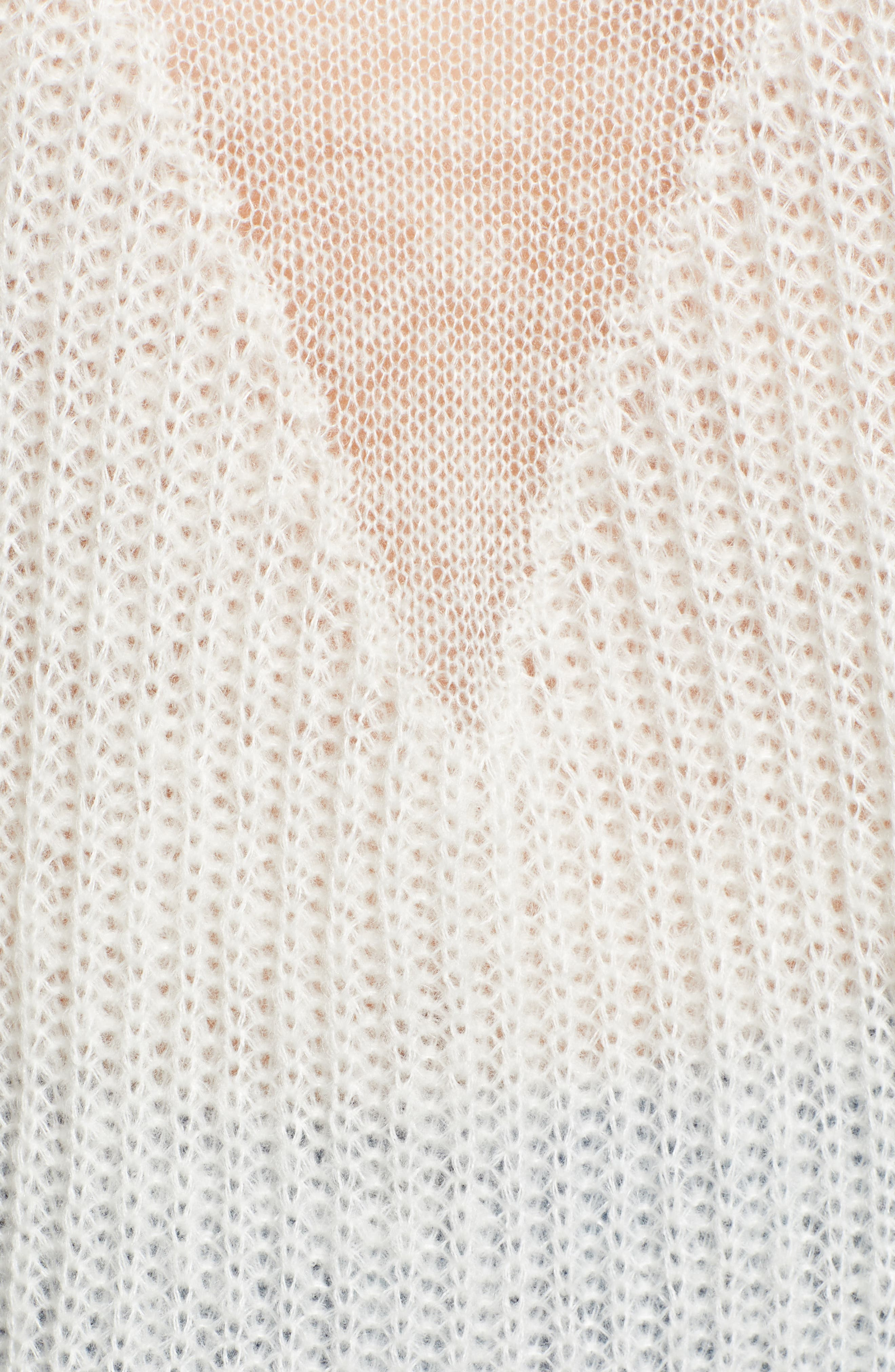 Fringed Sweater,                             Alternate thumbnail 5, color,                             IVORY