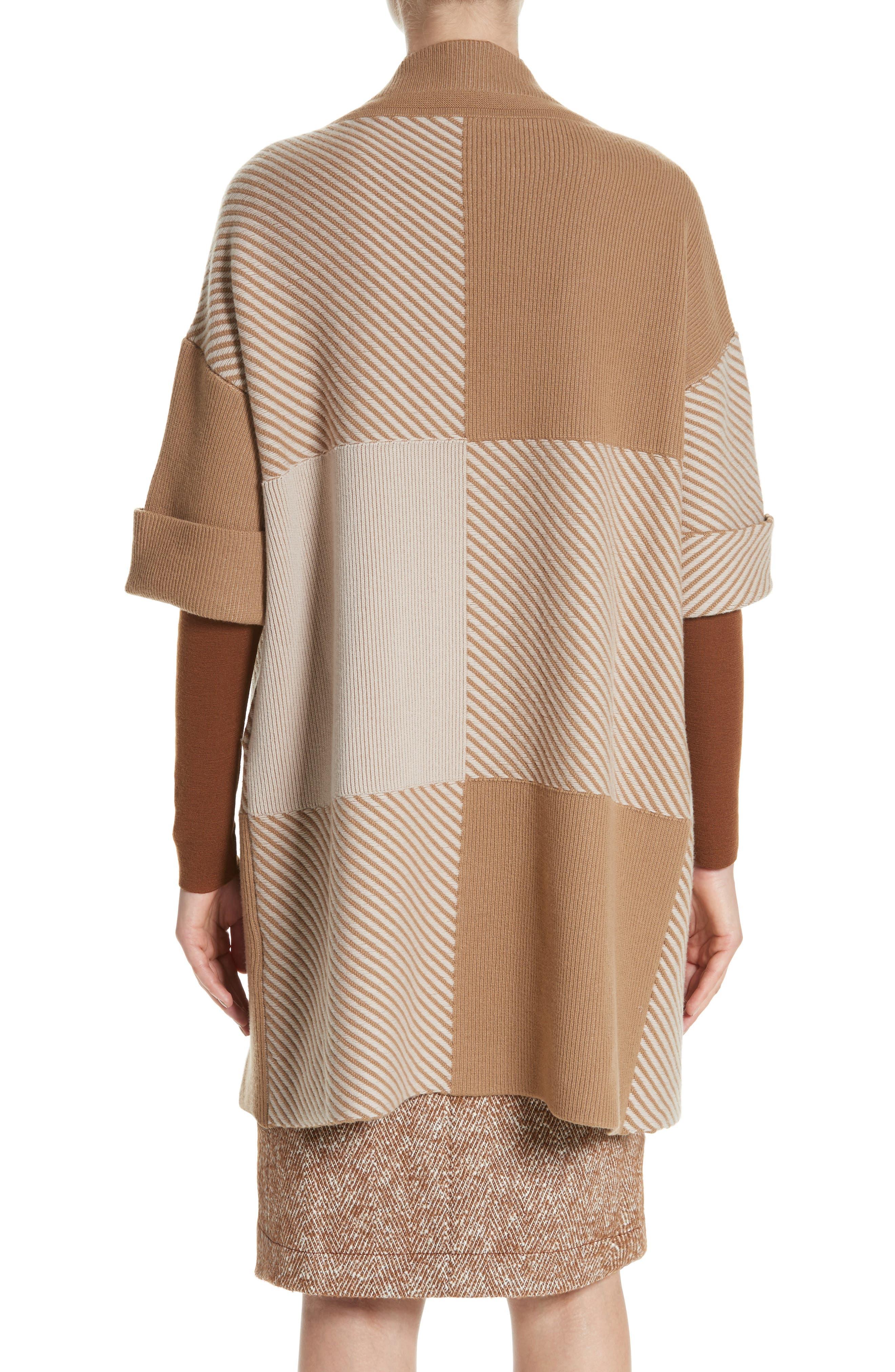 Flannel Bicolor Jacquard Coat,                             Alternate thumbnail 2, color,                             200