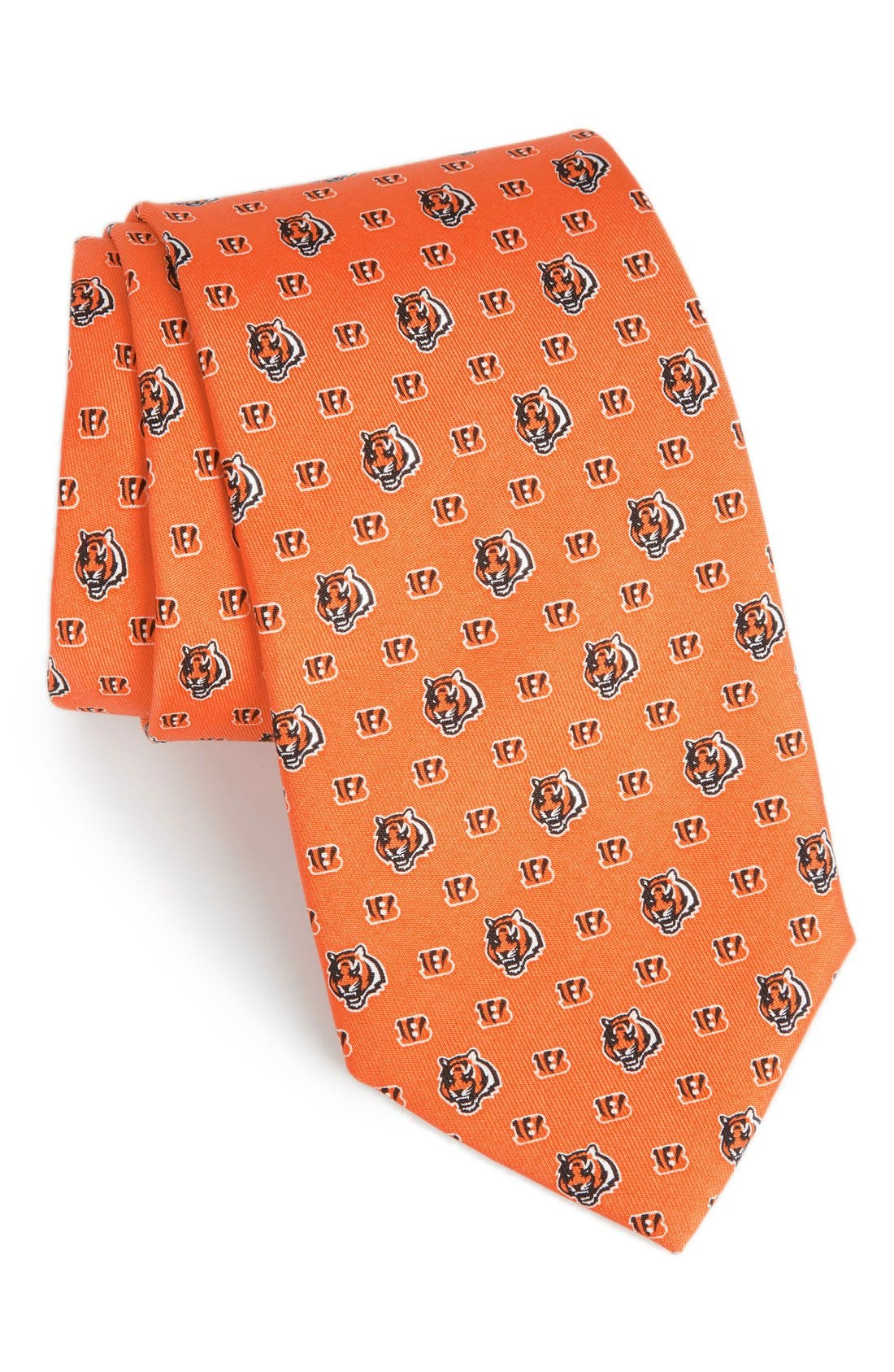 Cincinnati Bengals - NFL Woven Silk Tie,                             Main thumbnail 1, color,                             ORANGE