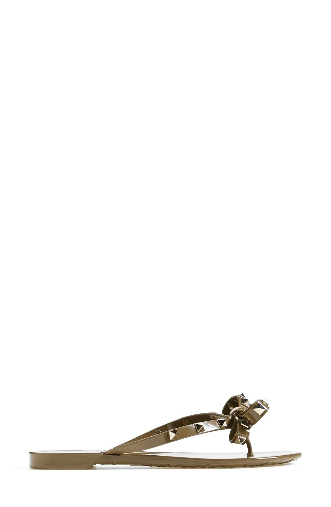 'Rockstud' Flip Flop,                             Alternate thumbnail 100, color,