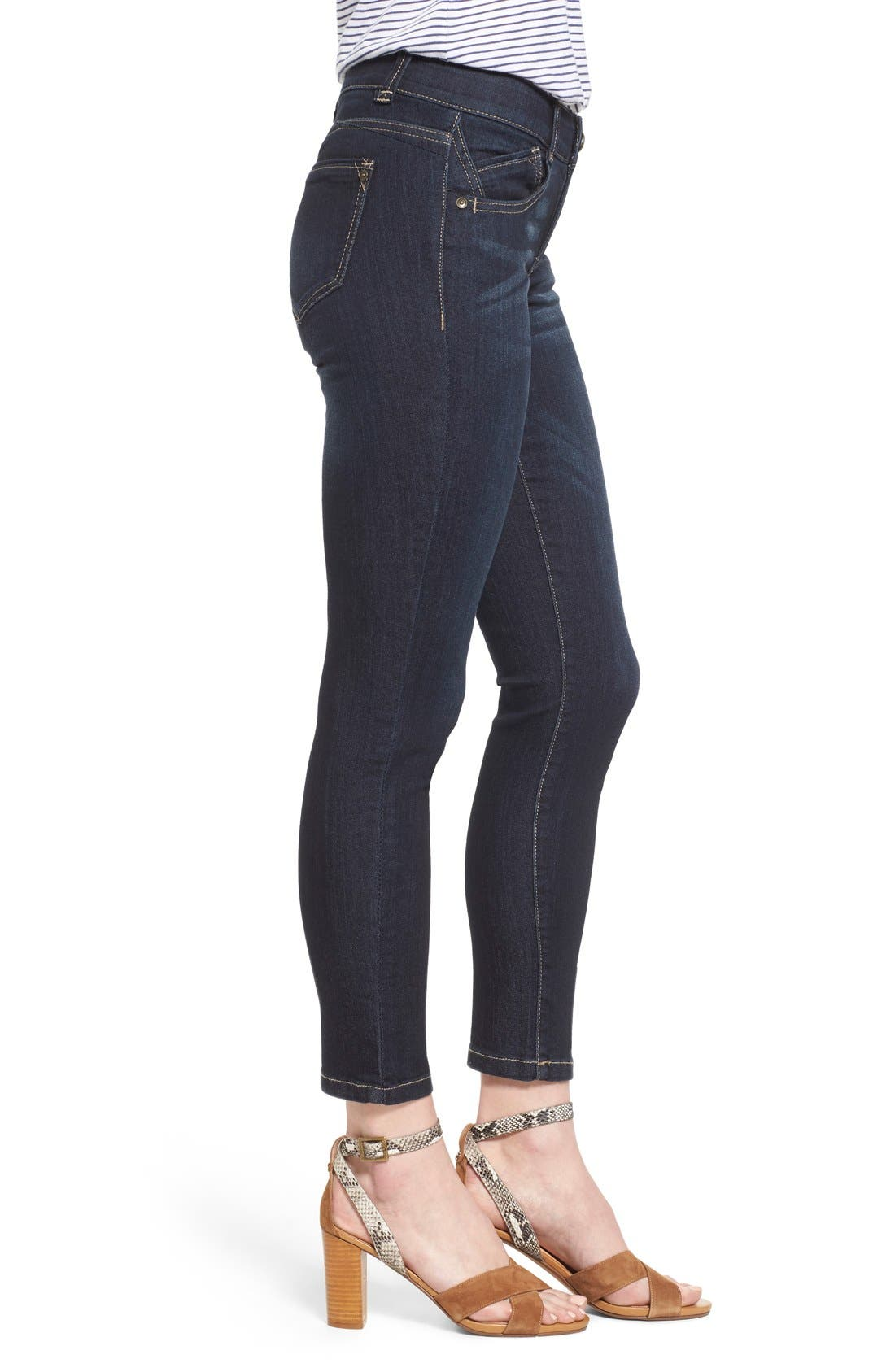 'Ab Solution' Stretch Ankle Skinny Jeans,                             Alternate thumbnail 2, color,