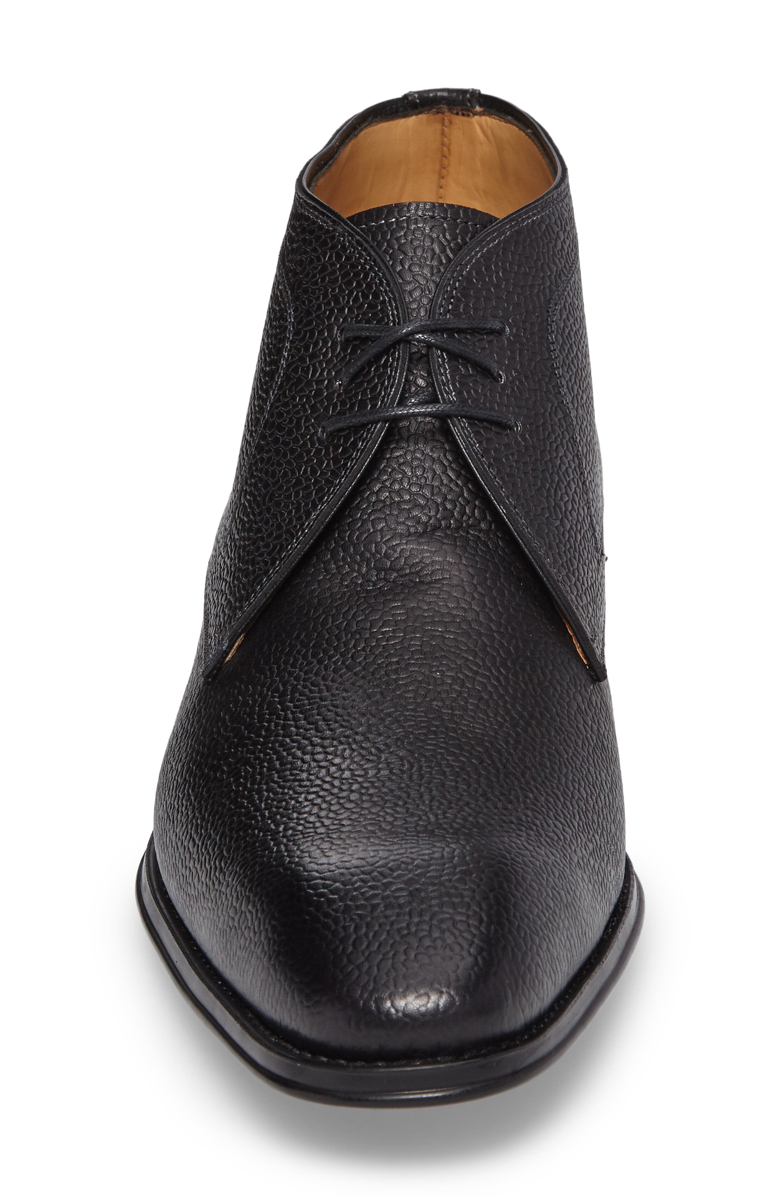 Cabra Plain Toe Derby,                             Alternate thumbnail 4, color,                             BLACK LEATHER