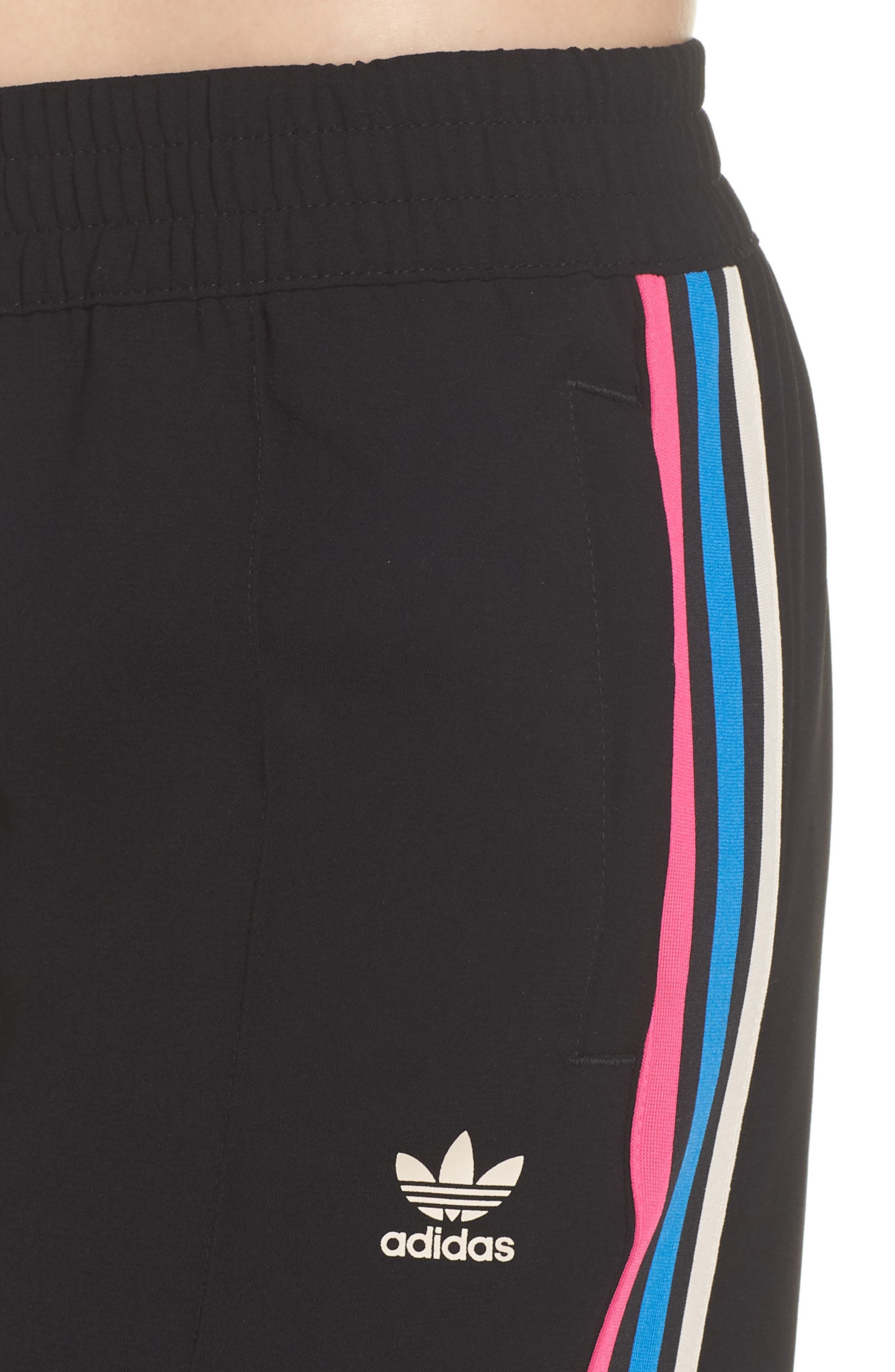 adidas Crop Track Pants,                             Alternate thumbnail 4, color,                             001