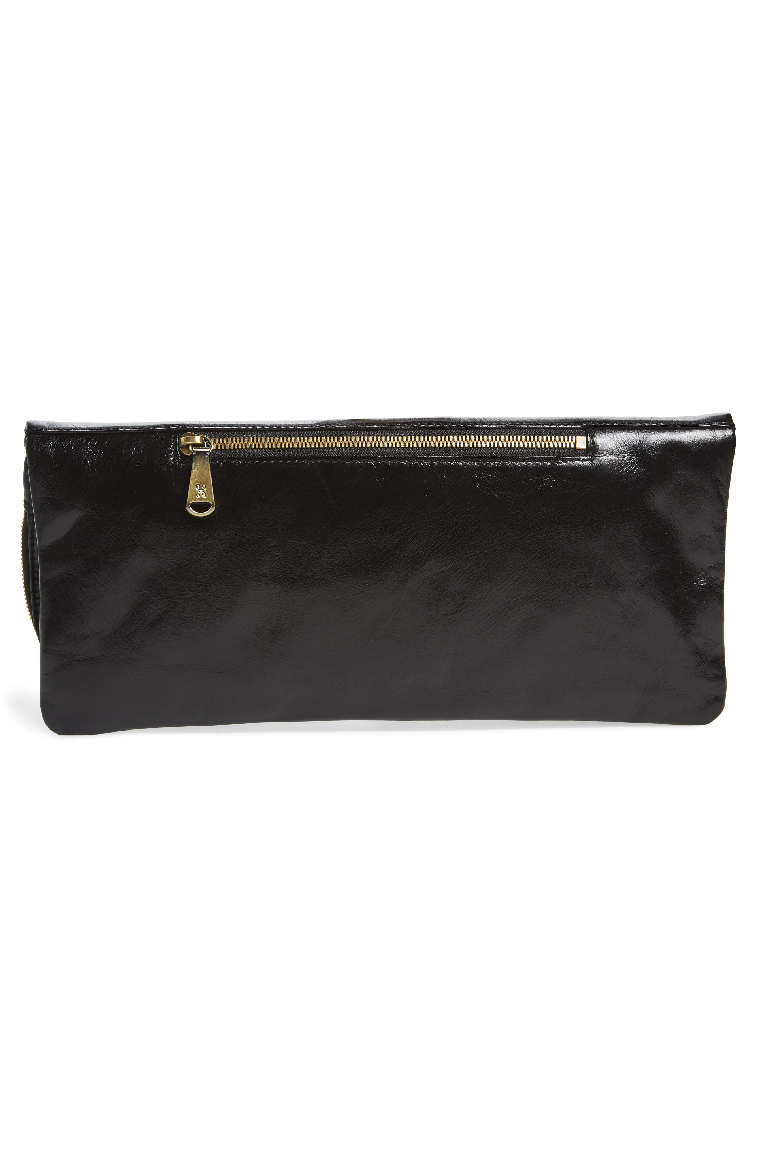 Raine Calfskin Leather Foldover Clutch,                             Alternate thumbnail 10, color,