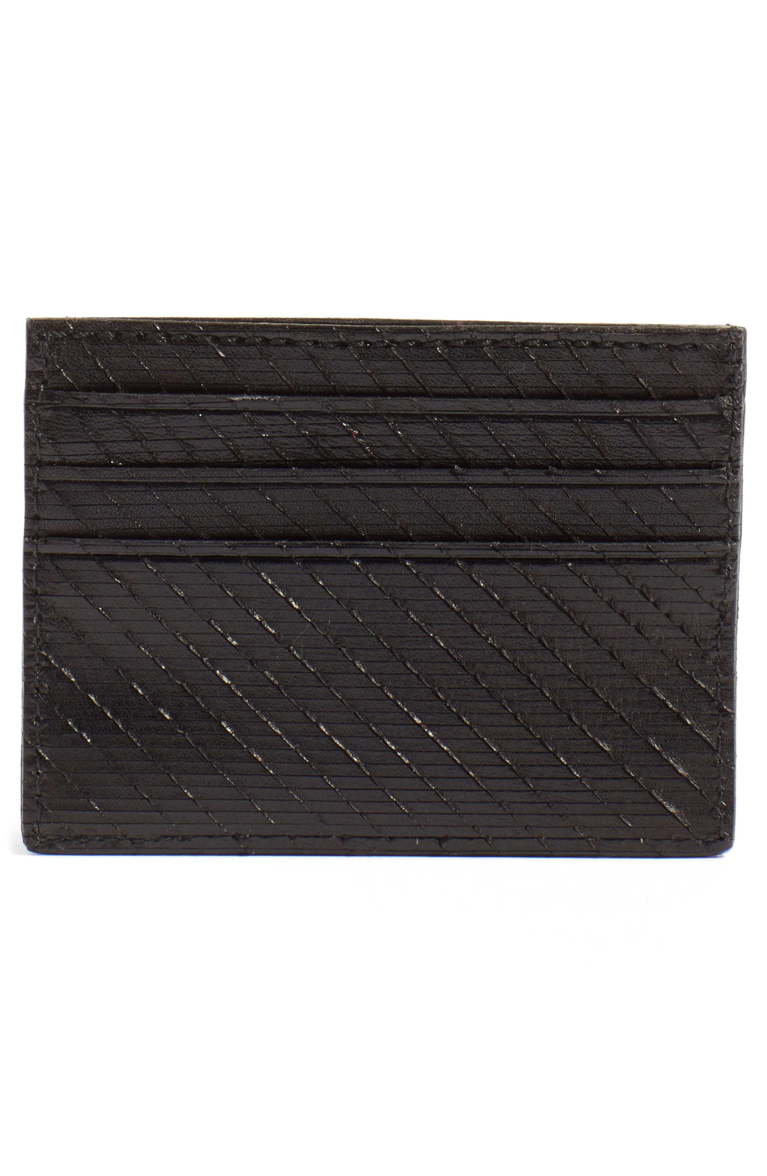 Leather Card Case,                             Alternate thumbnail 2, color,                             001