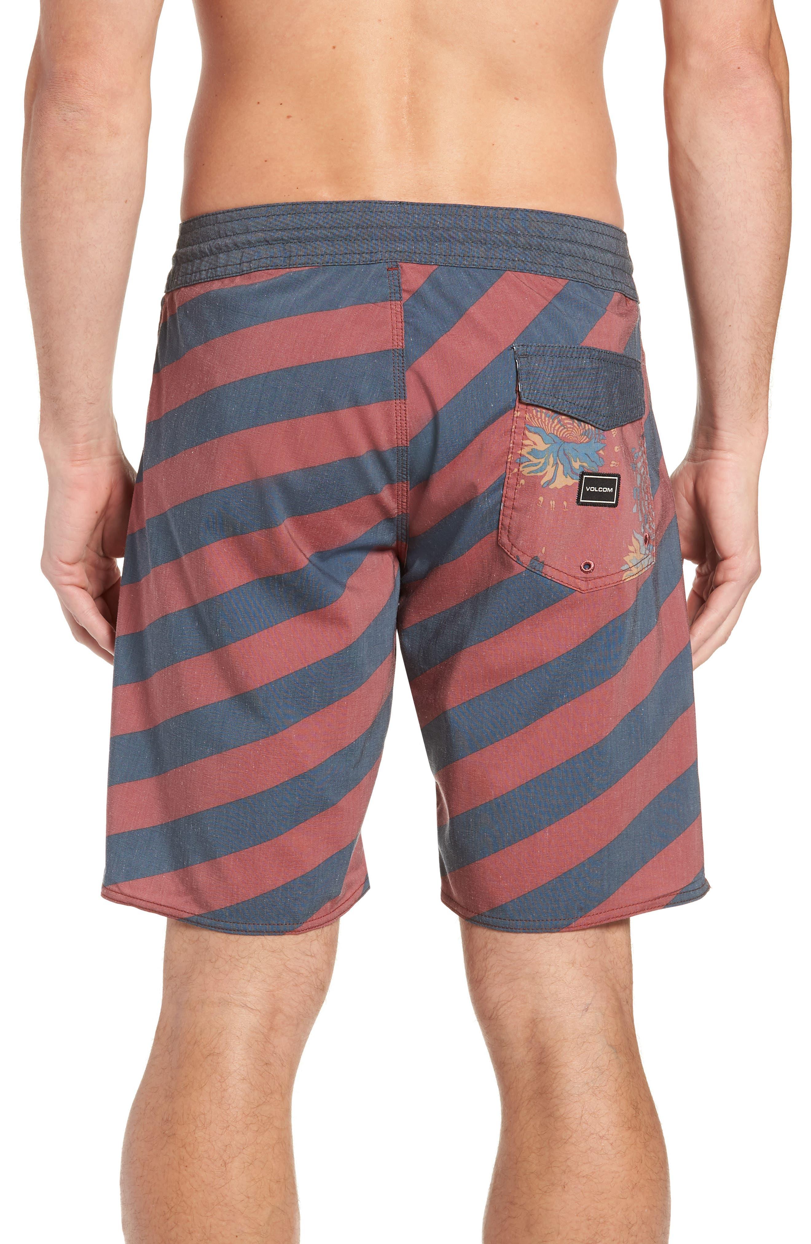 Stripey Stoney Boardshorts,                             Alternate thumbnail 2, color,                             RUST