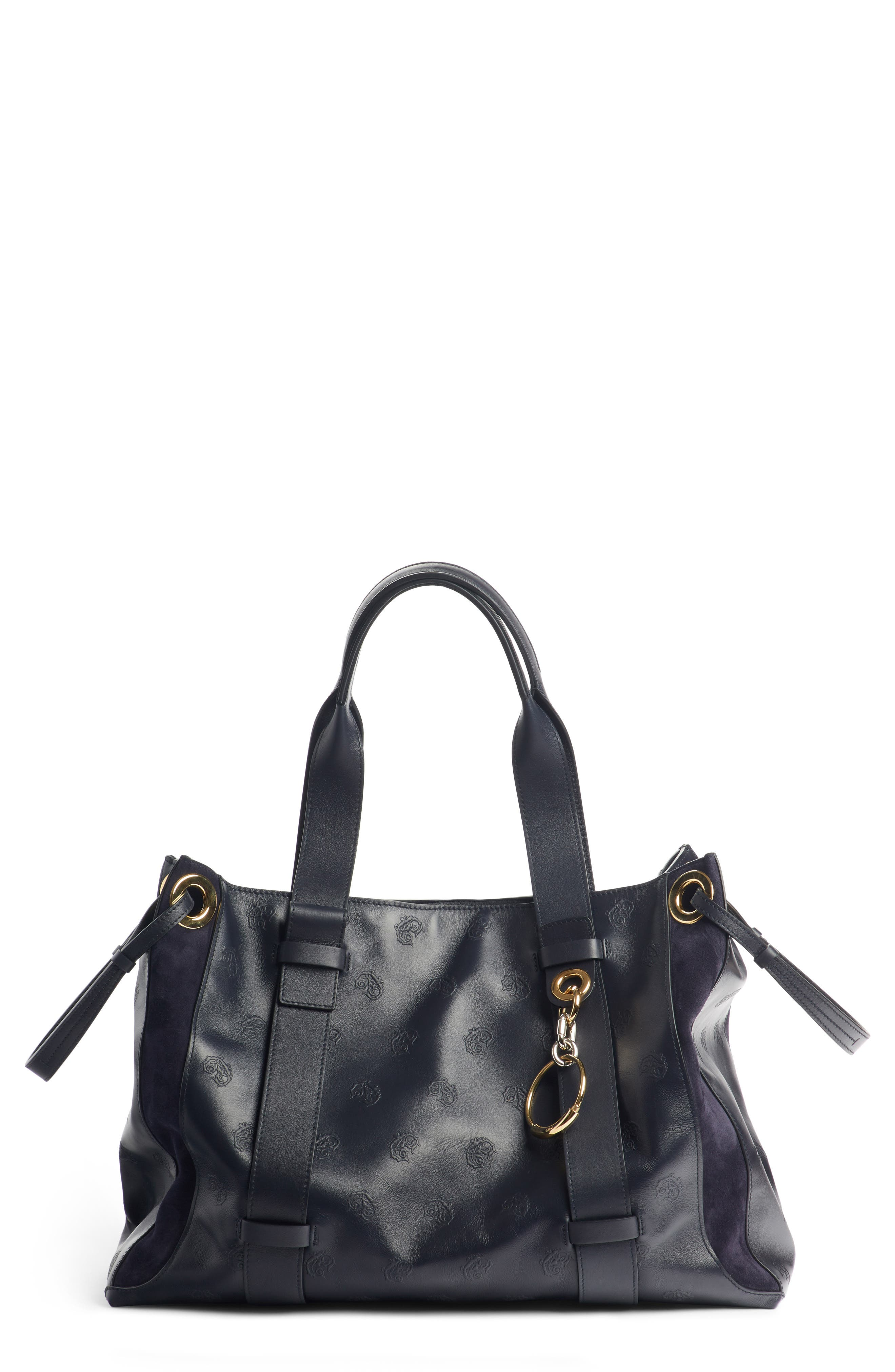 Medium Tao Embossed Leather Satchel,                         Main,                         color, 401