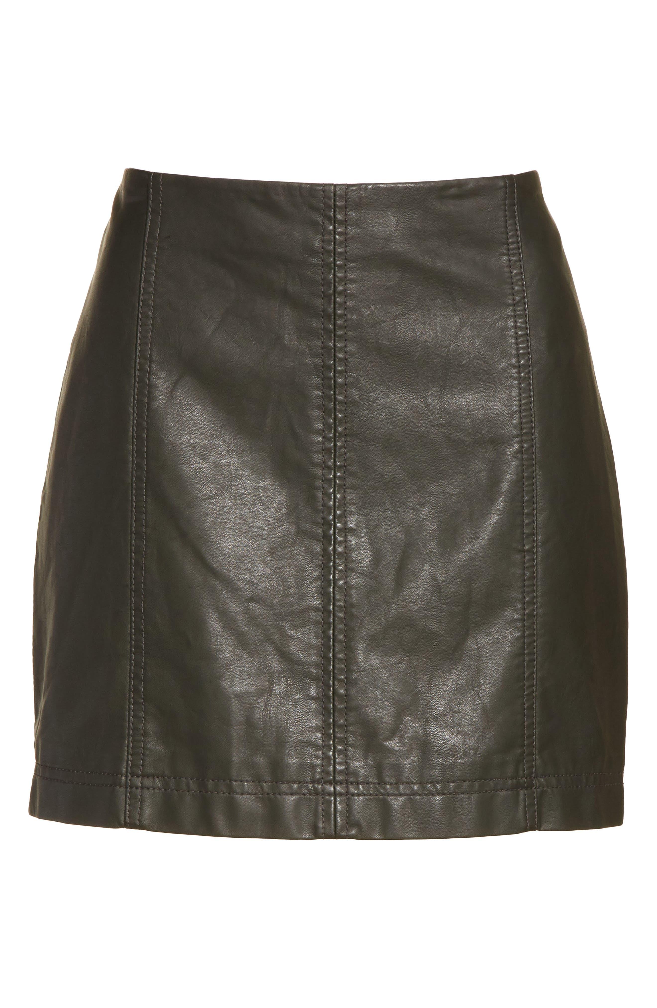 Modern Femme Faux Leather Miniskirt,                             Alternate thumbnail 6, color,                             300