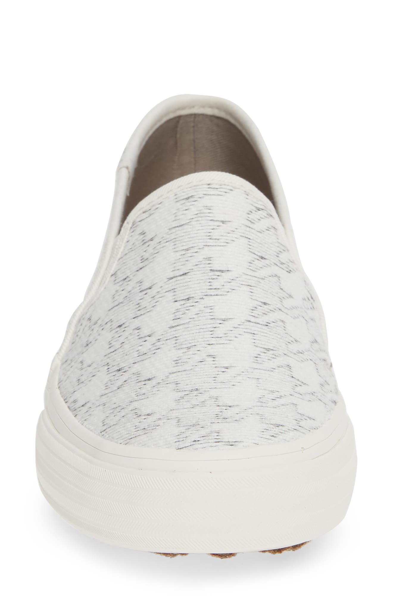 KEDS<SUP>®</SUP>,                             'Double Decker' Slip-On Sneaker,                             Alternate thumbnail 4, color,                             WHITE HOUNDSTOOTH