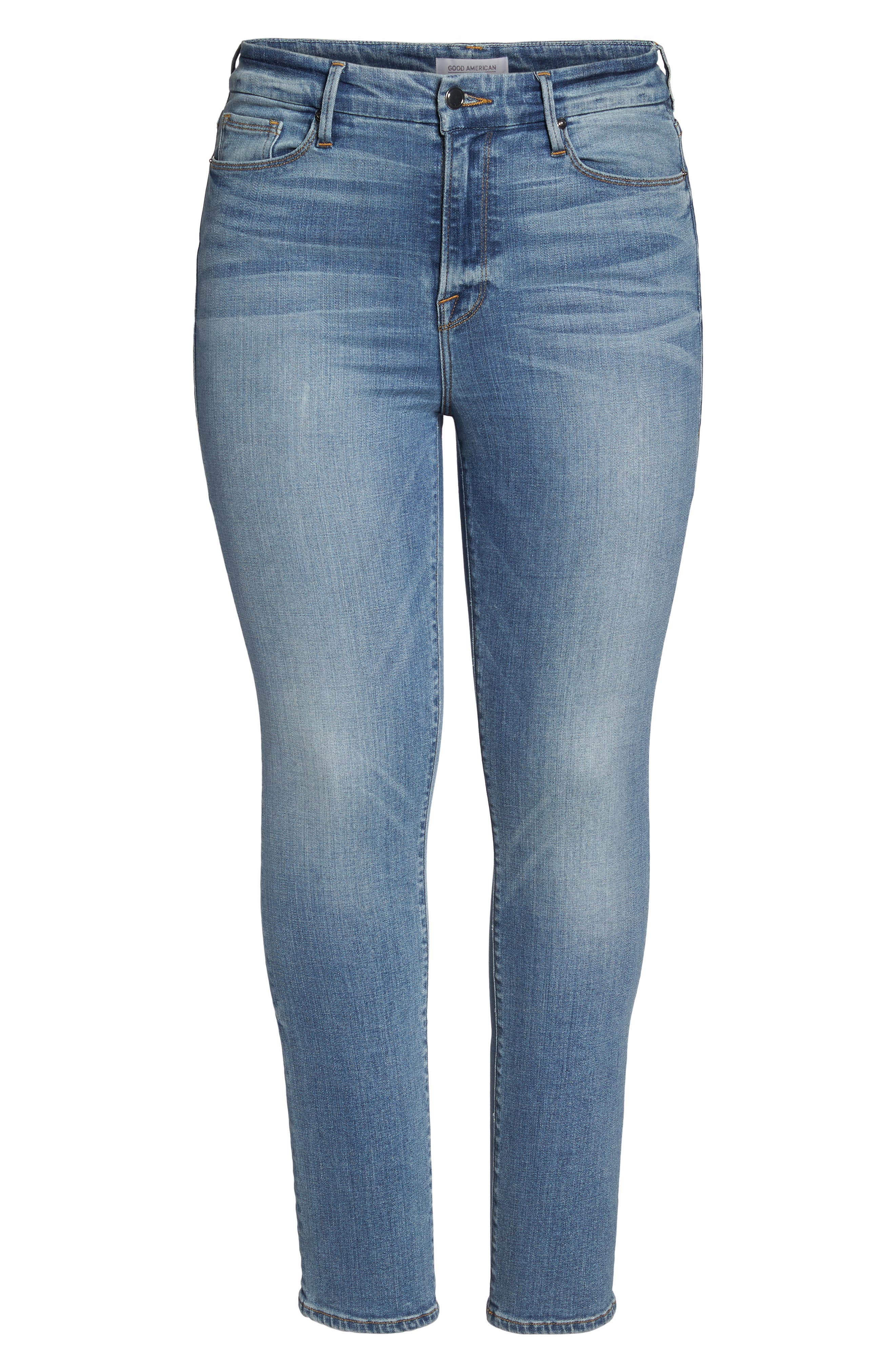 Good Straight High Rise Jeans,                             Alternate thumbnail 6, color,                             401