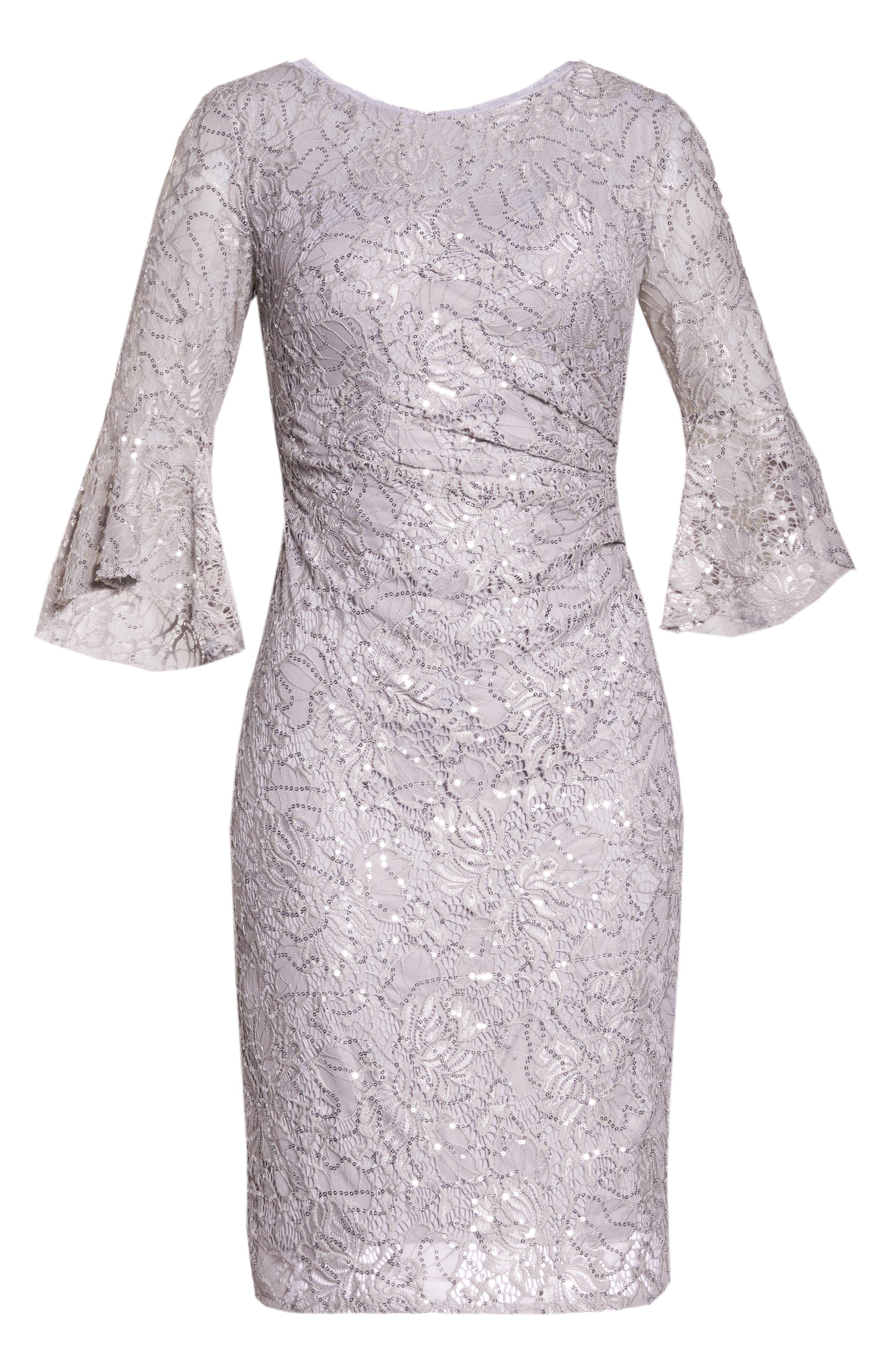MORGAN & CO.,                             Lace Sheath Dress,                             Alternate thumbnail 7, color,                             040
