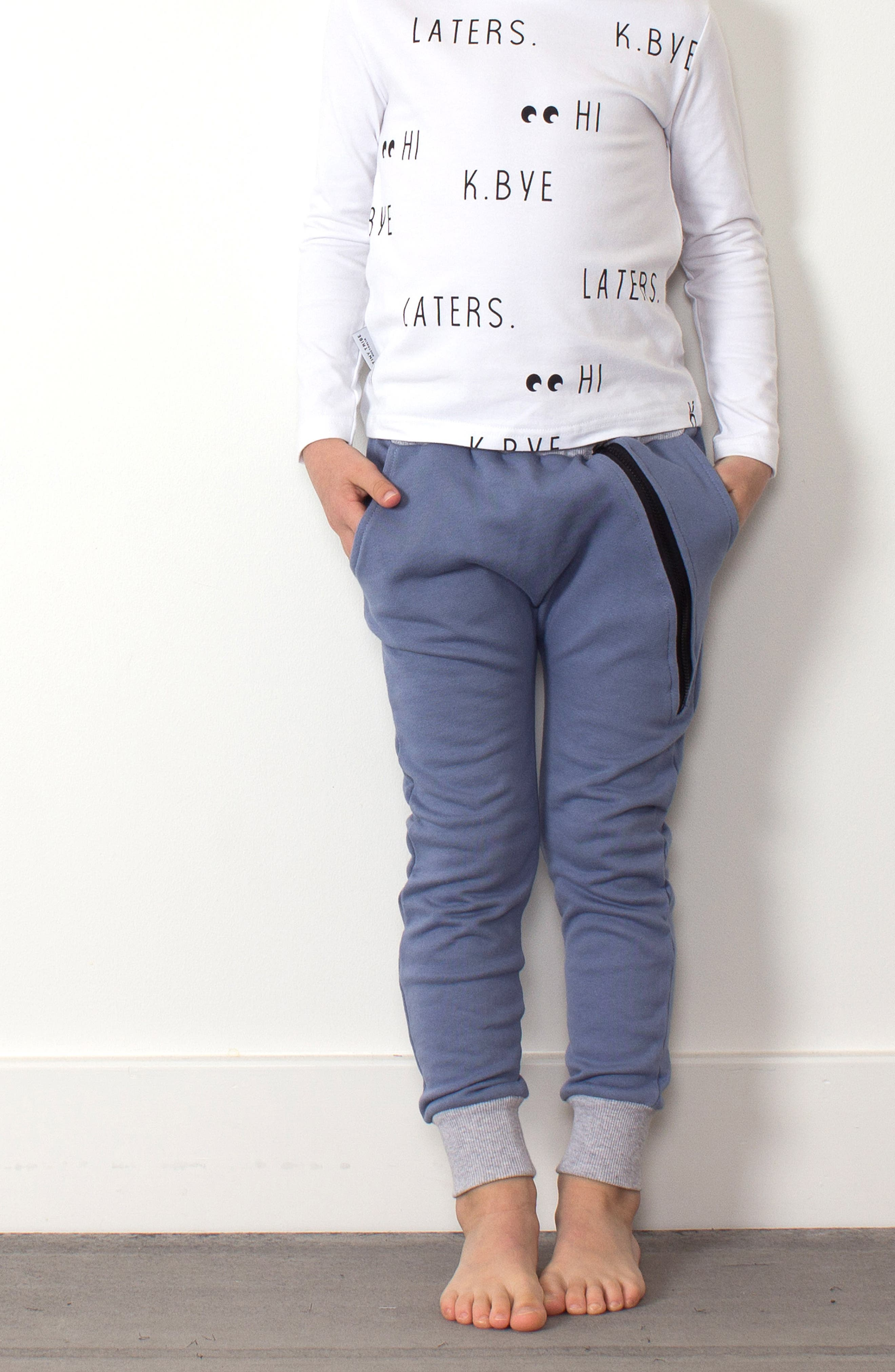 Zip Sweatpants,                             Alternate thumbnail 4, color,                             BLUE