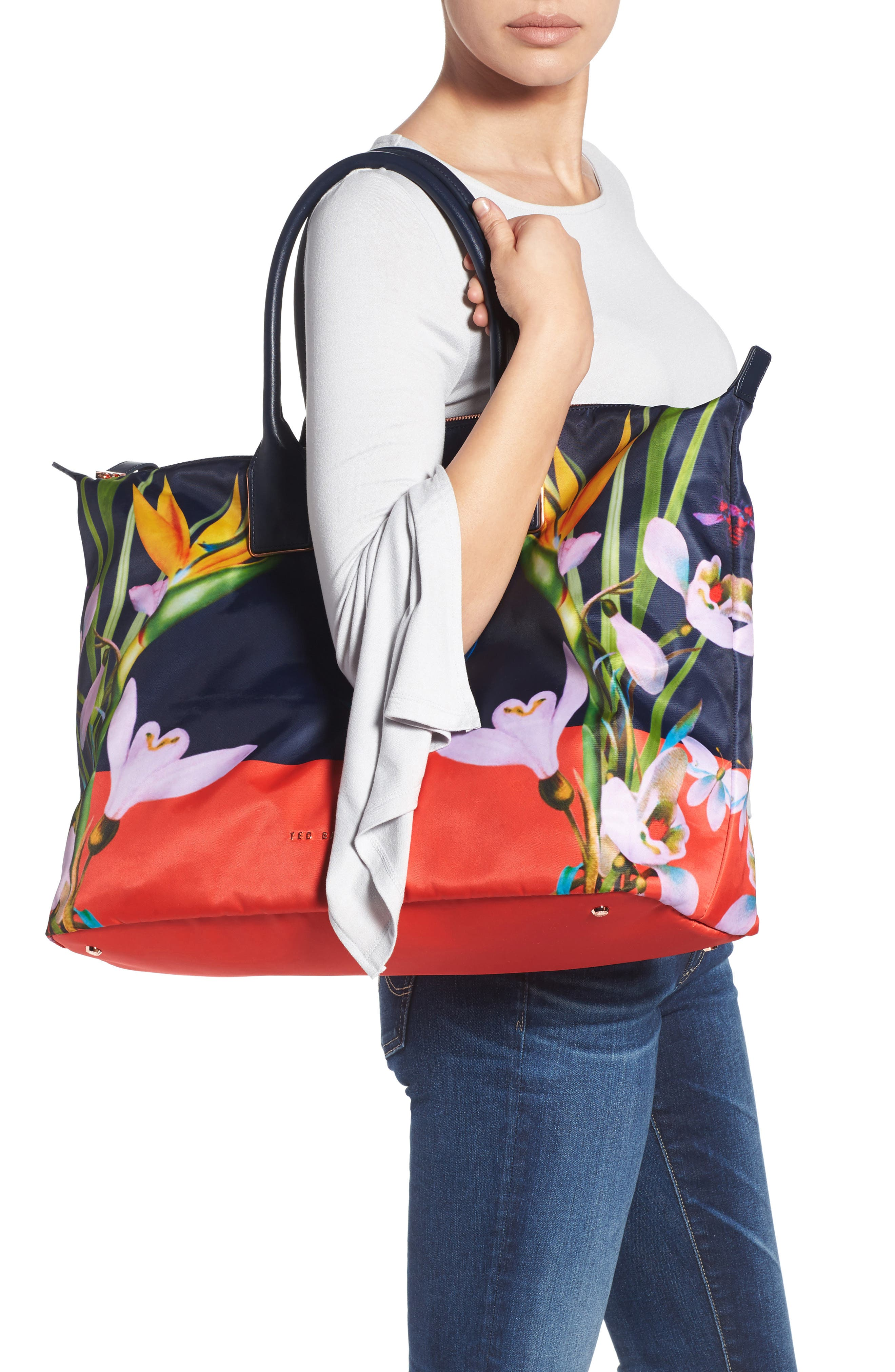 Tropical Oasis Large Tote,                             Alternate thumbnail 2, color,                             410