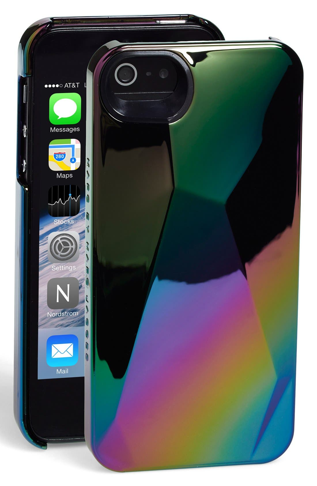 MARC BY MARC JACOBS 'Metallic 3D' iPhone 5 & 5s Case,                             Main thumbnail 1, color,                             001