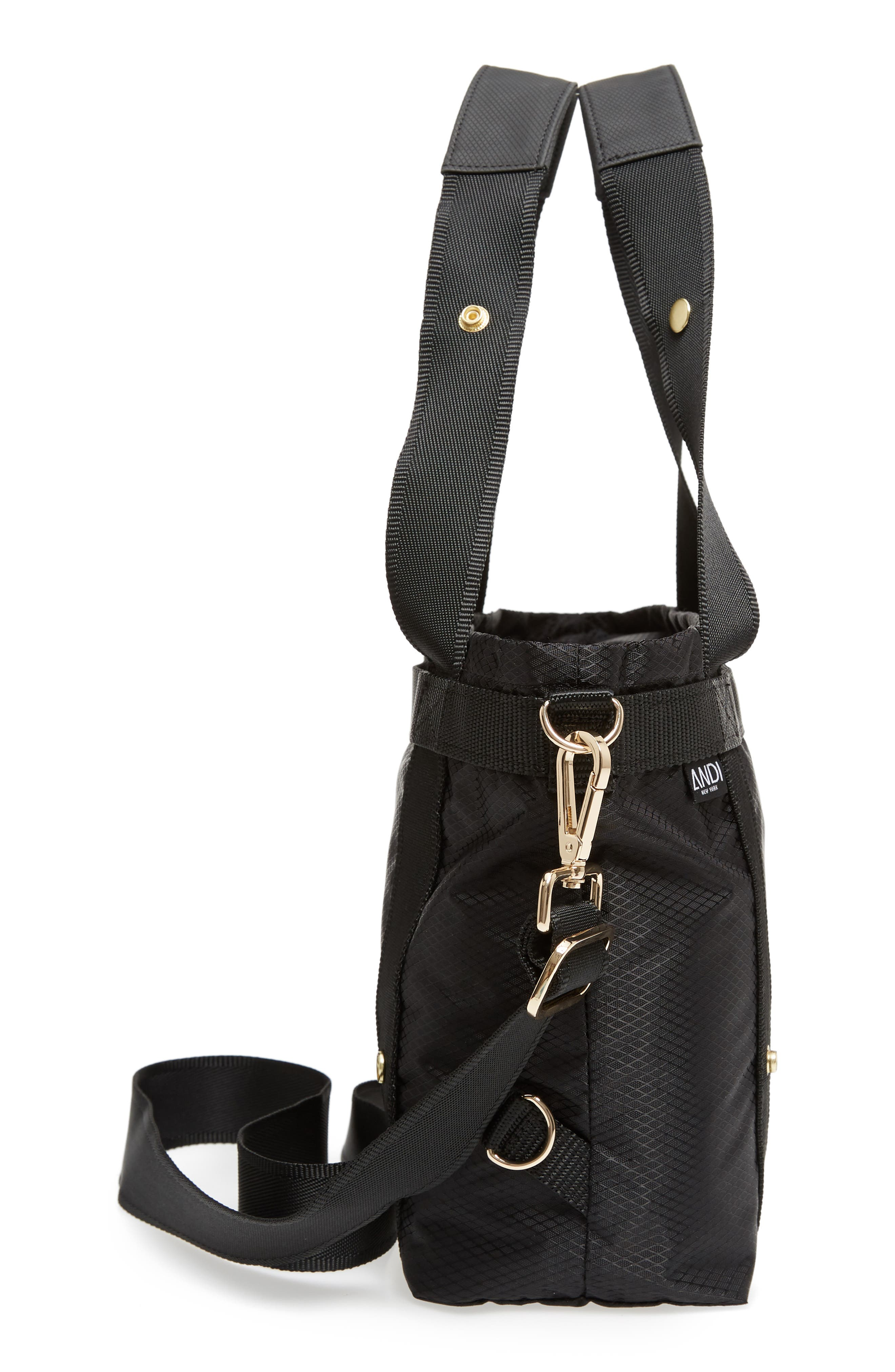 The ANDI Small Convertible Tote,                             Alternate thumbnail 6, color,                             BLACK
