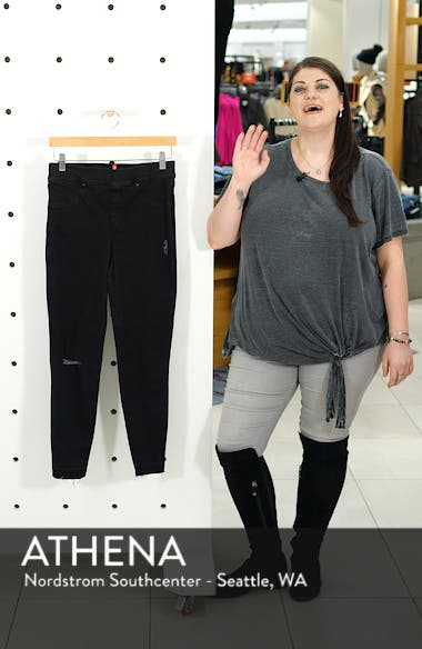 Distressed Skinny Denim Leggings, sales video thumbnail