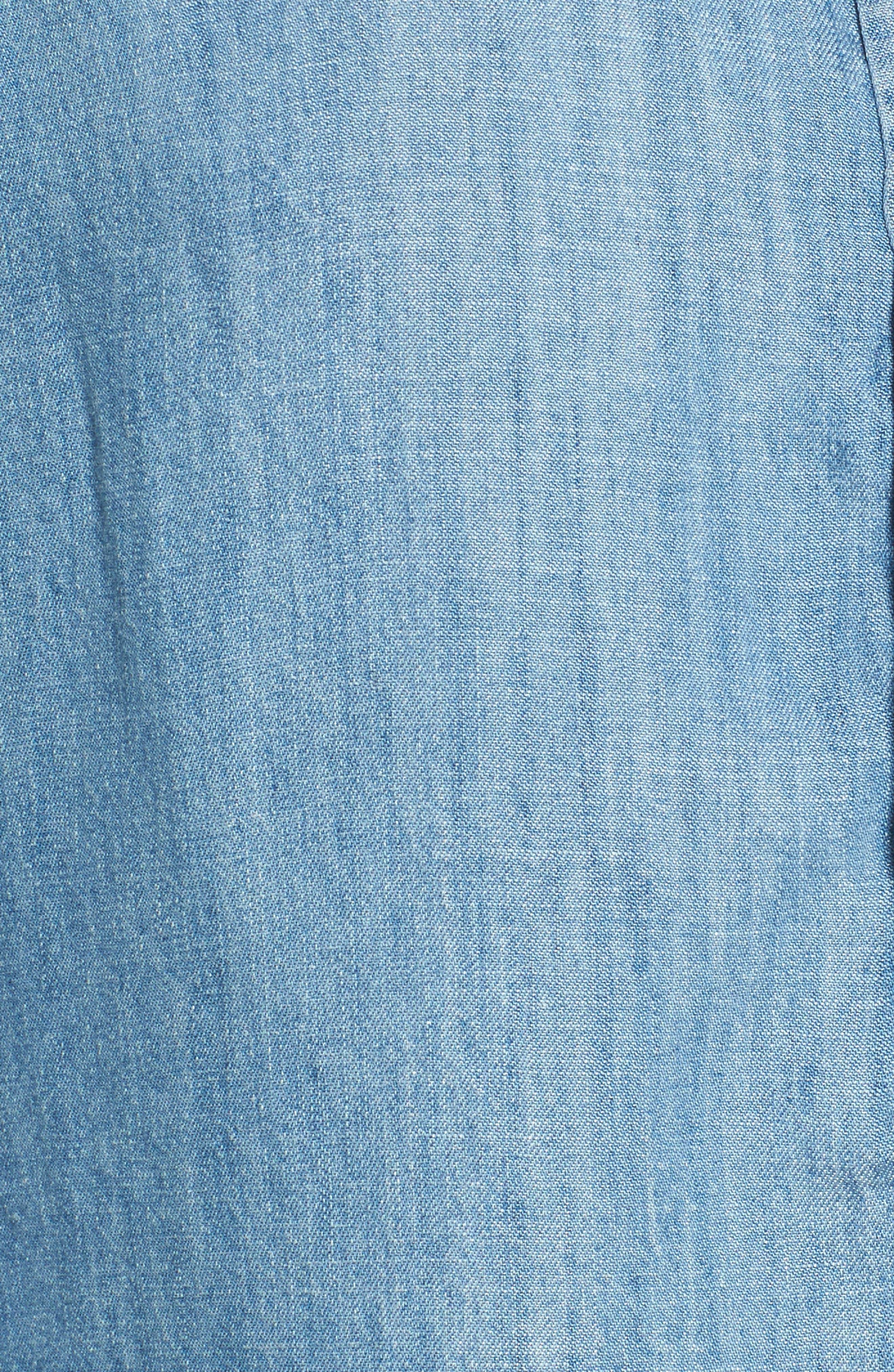 Grommet Chambray Shirt,                             Alternate thumbnail 5, color,                             493