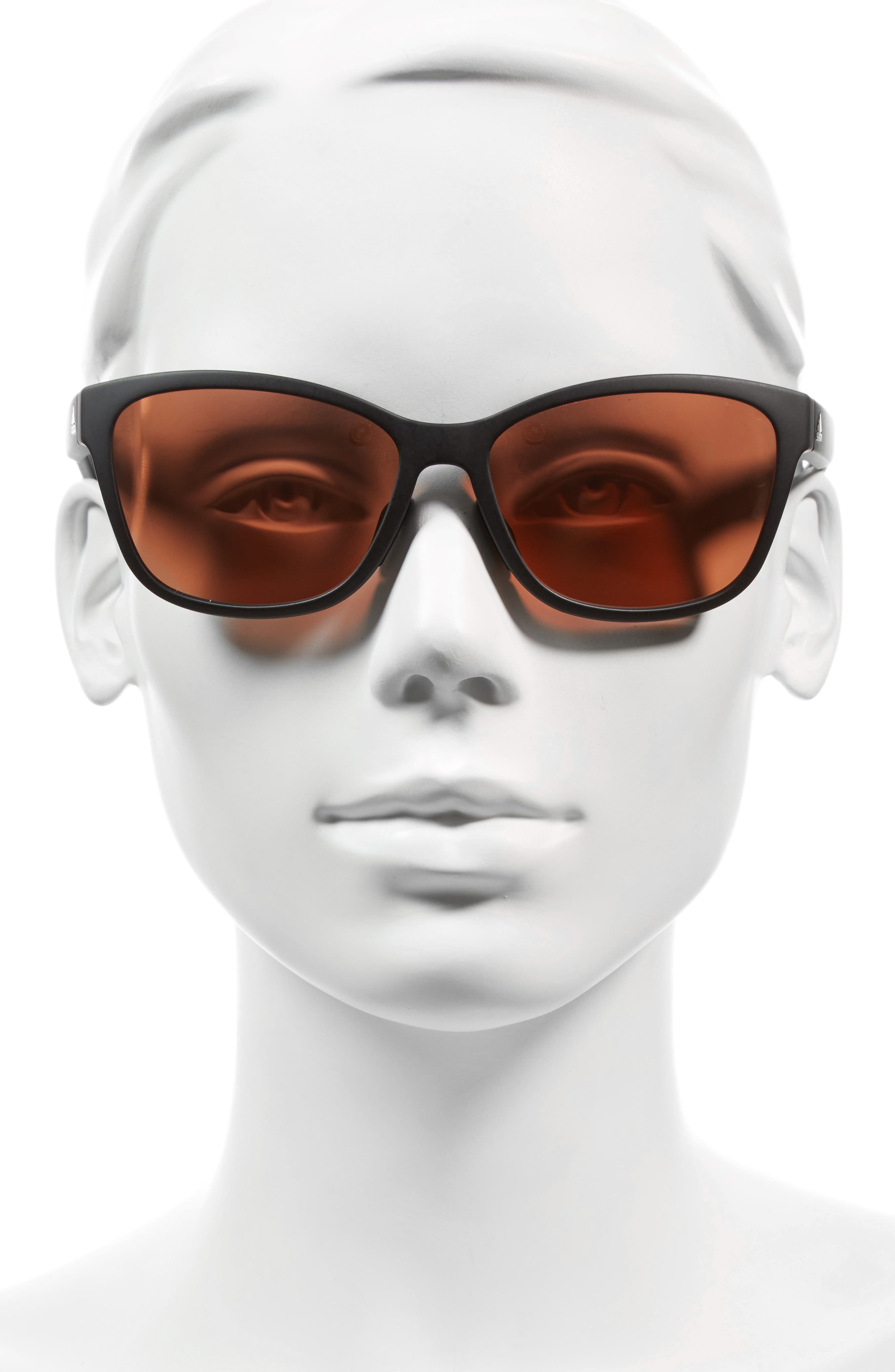 Excalate 58mm Mirrored Sunglasses,                             Alternate thumbnail 2, color,                             BLACK MATTE/ TAUPE