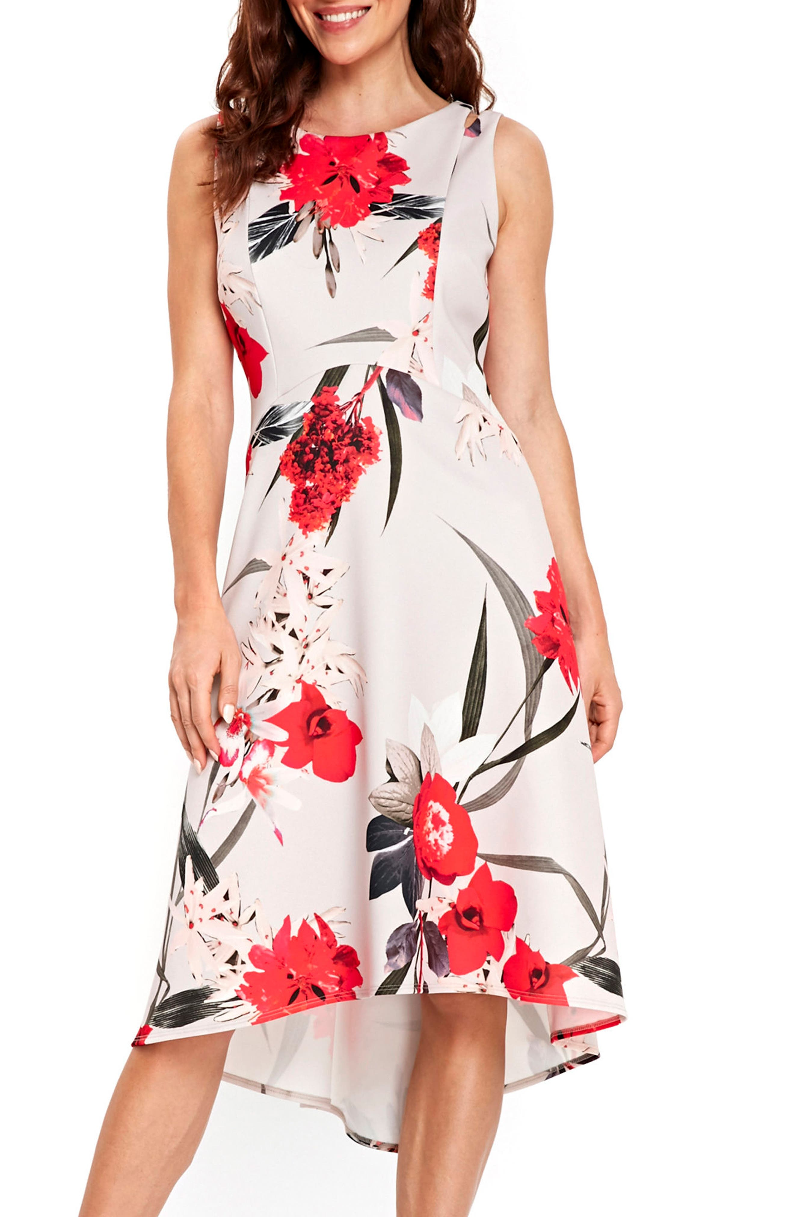 Sahara Bloom High/Low Dress,                         Main,                         color, 020