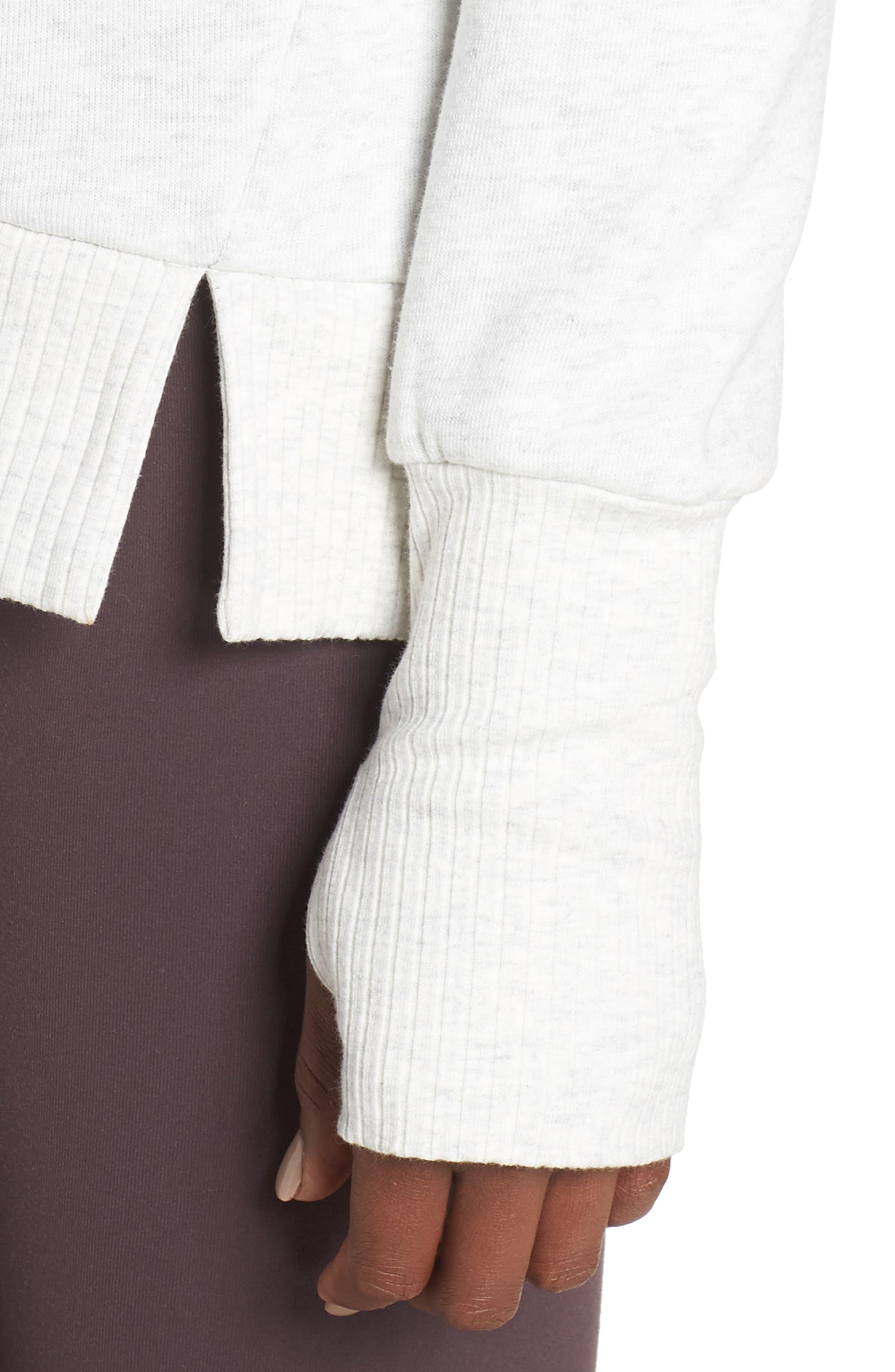 'Haze' Funnel Neck Sweatshirt,                             Alternate thumbnail 4, color,                             WHITE HEATHER