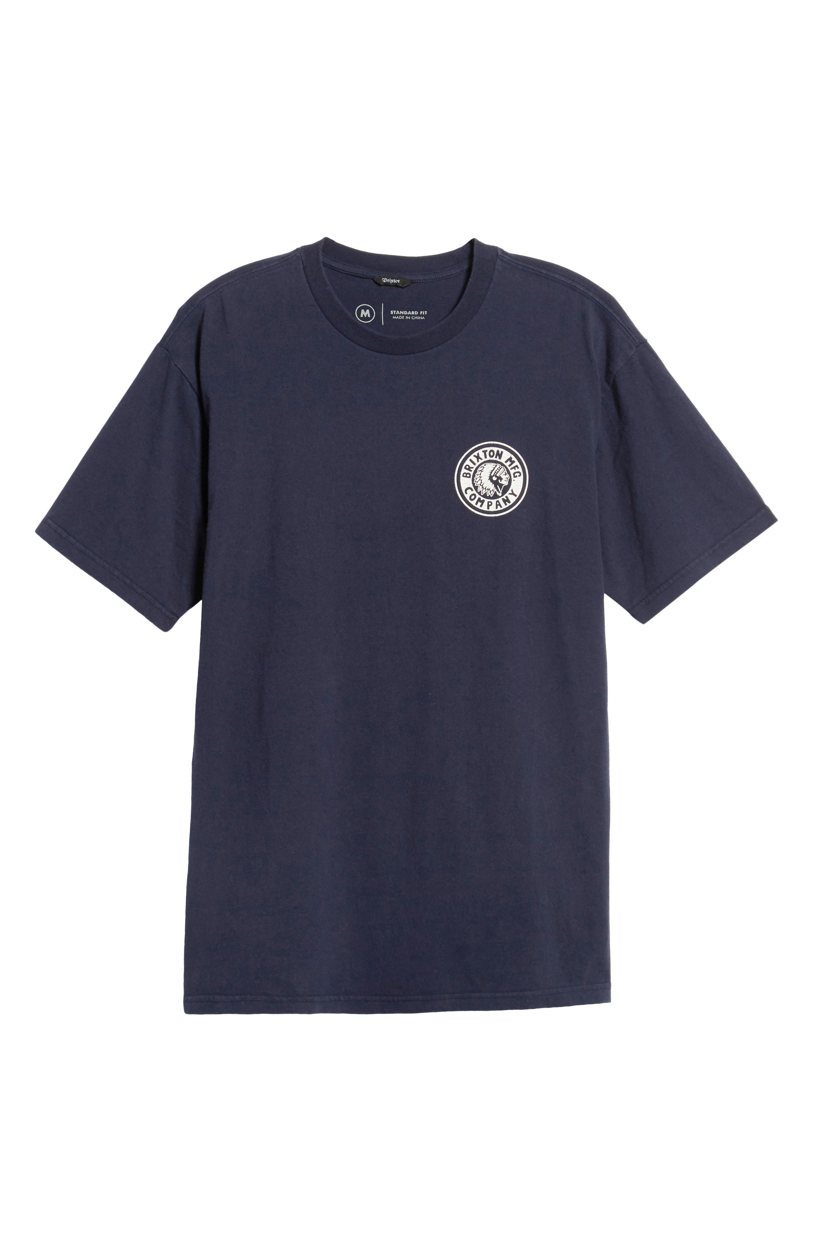 Rival II Graphic T-Shirt,                             Alternate thumbnail 6, color,                             NAVY/ WHITE
