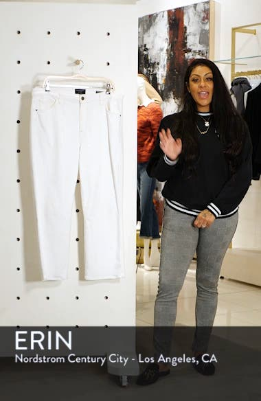 Modern High Rise Straight Leg Crop Jeans, sales video thumbnail