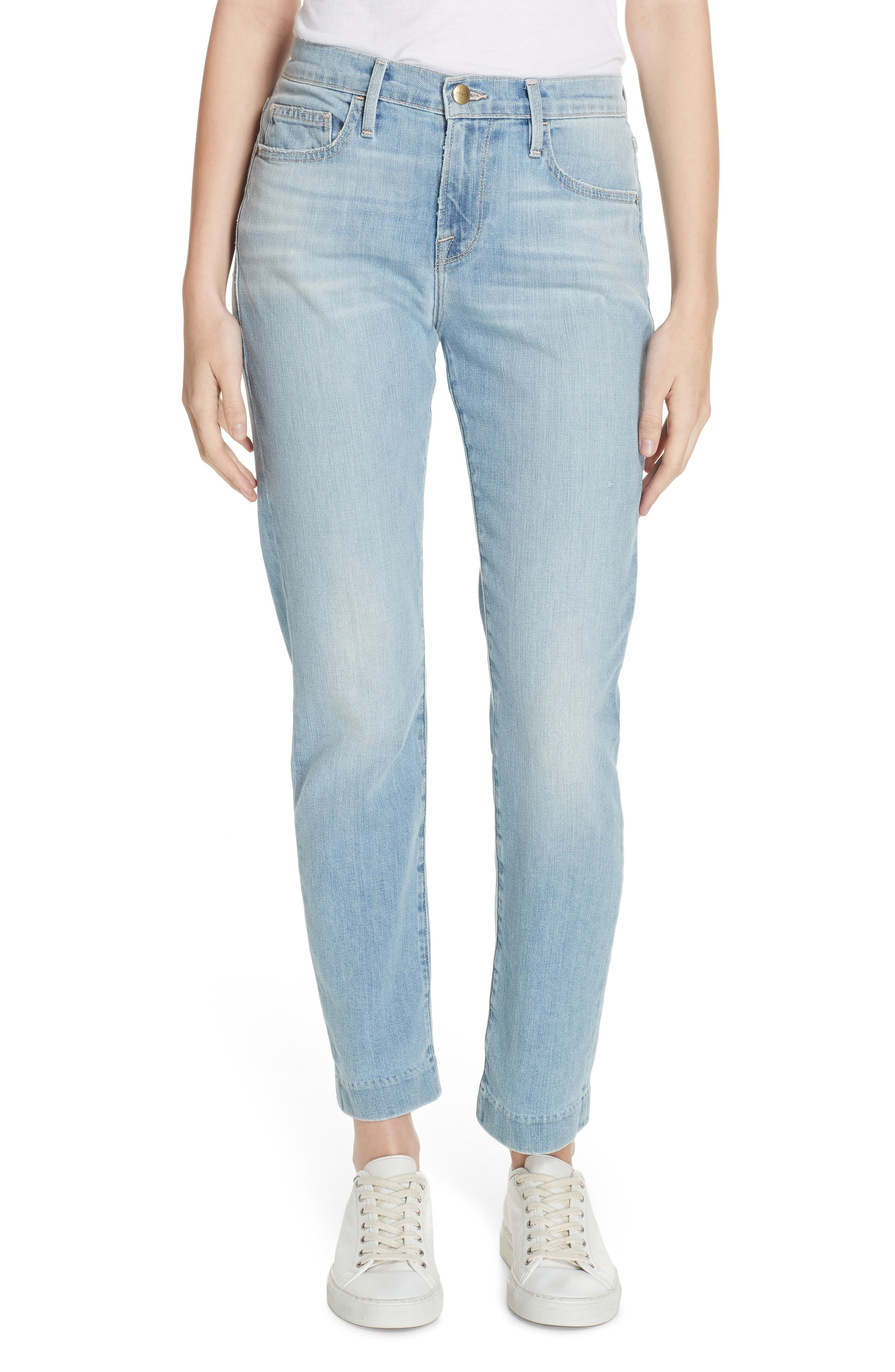 Le Boy High Waist Jeans, Main, color, KEATON
