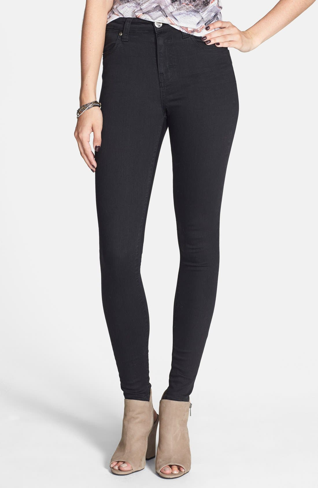'Elle' High Waist Skinny Jeans,                             Main thumbnail 1, color,                             400
