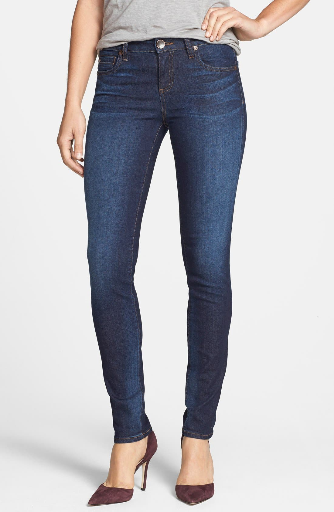'Diana' Stretch Skinny Jeans,                             Main thumbnail 1, color,                             402