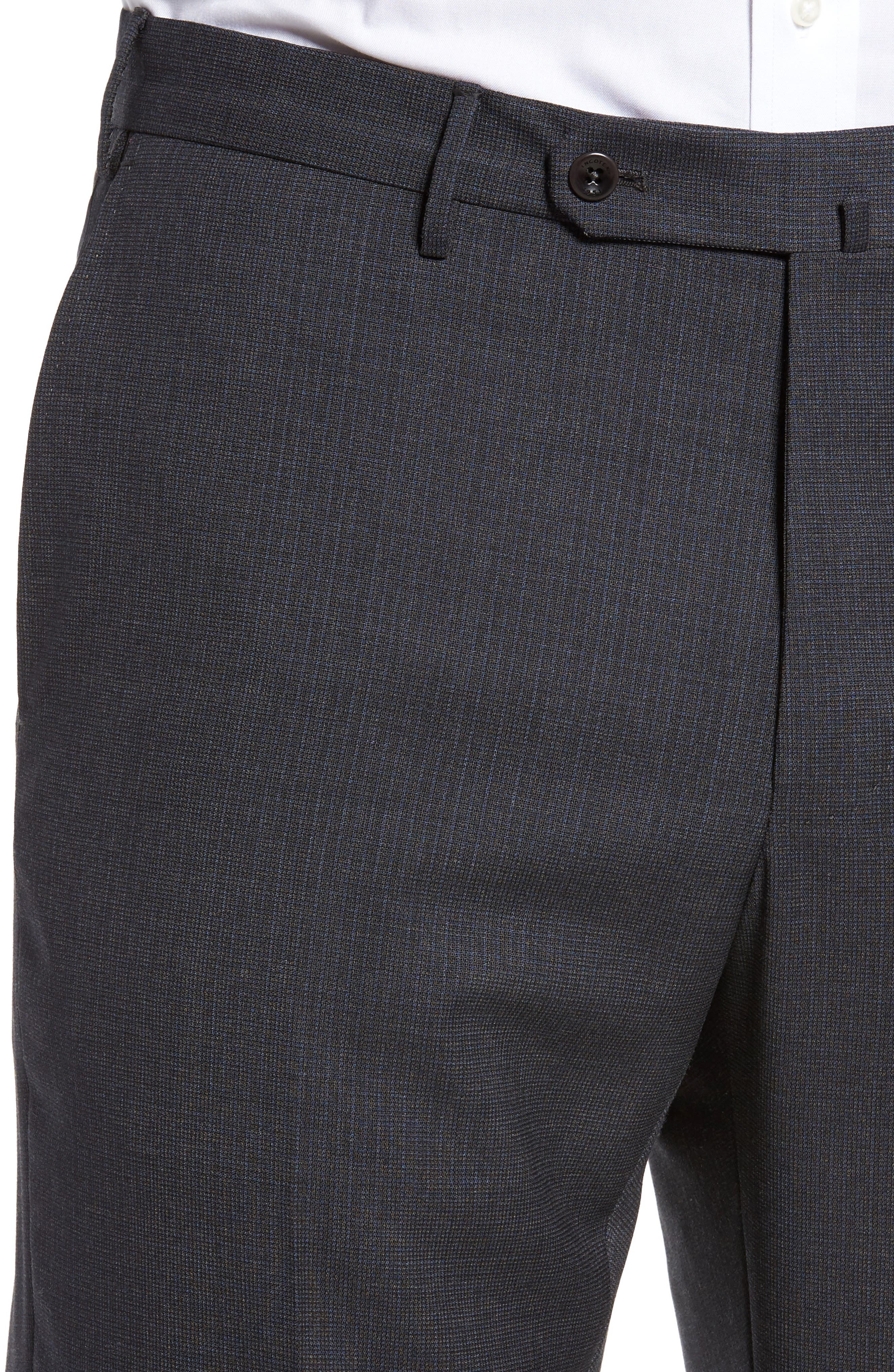 Benson Flat Front Wool Trousers,                             Alternate thumbnail 5, color,                             015