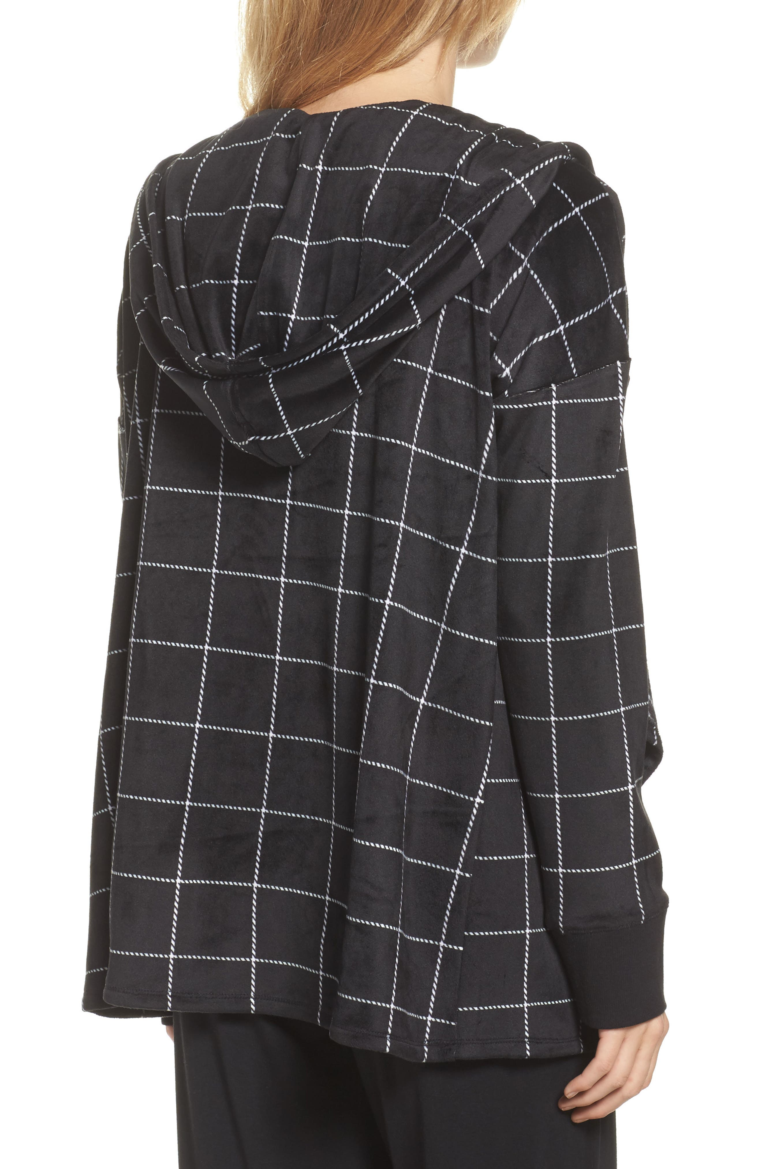 Drape Front Sweatshirt,                             Alternate thumbnail 2, color,                             001