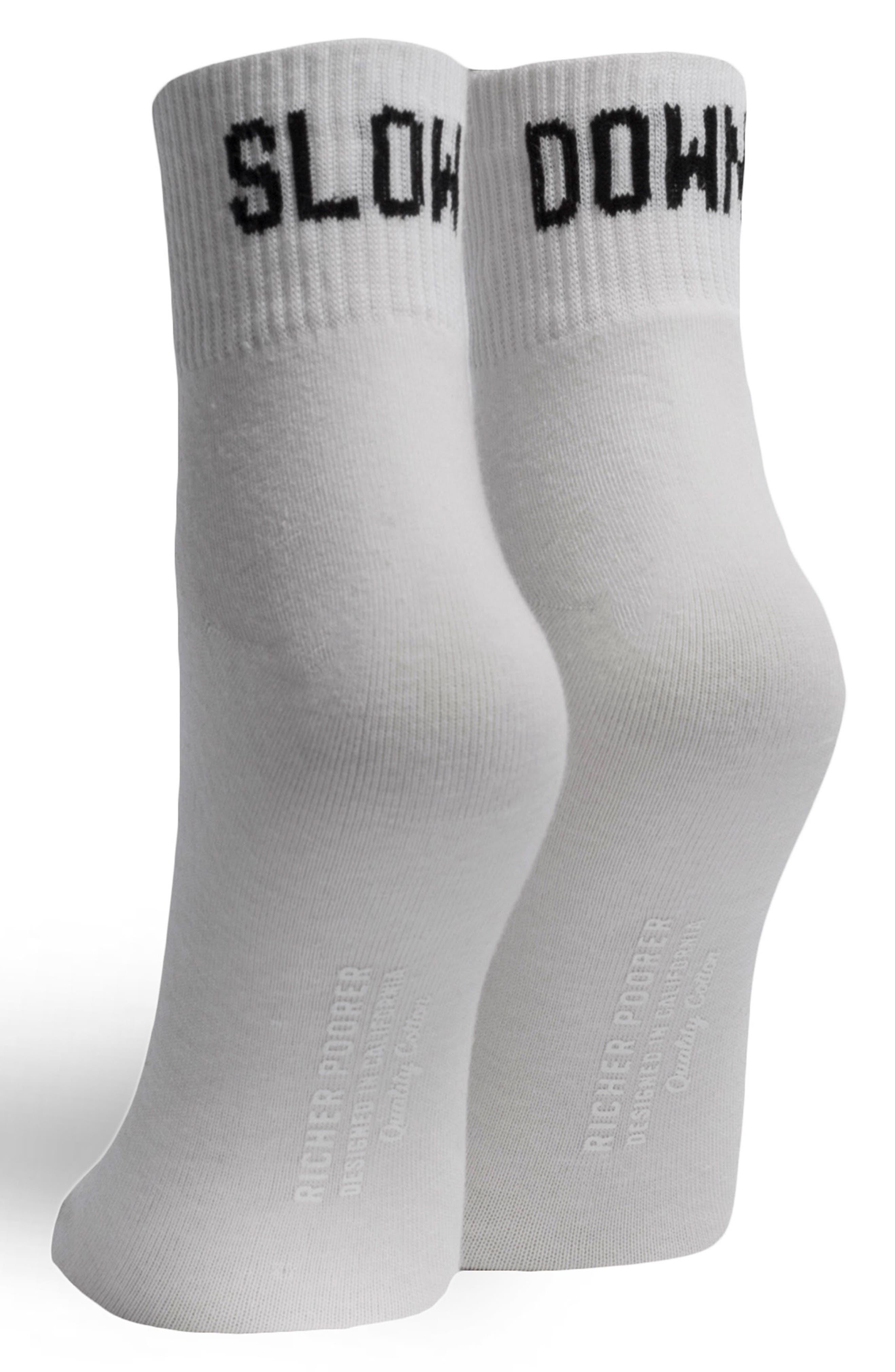 Slow Down Ankle Socks,                             Alternate thumbnail 4, color,                             100