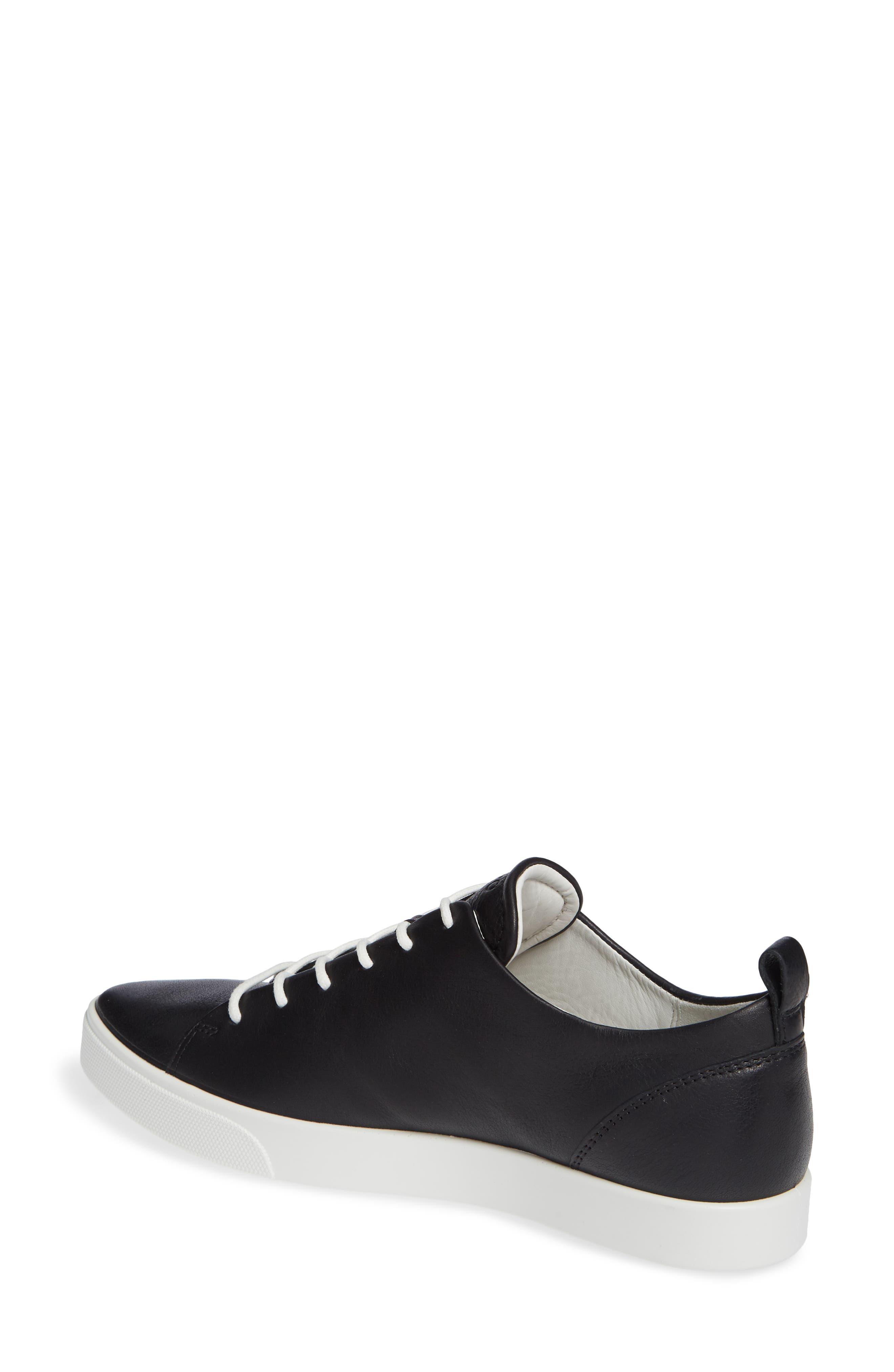 ECCO,                             Gillian Sneaker,                             Alternate thumbnail 2, color,                             BLACK/ BLACK LEATHER