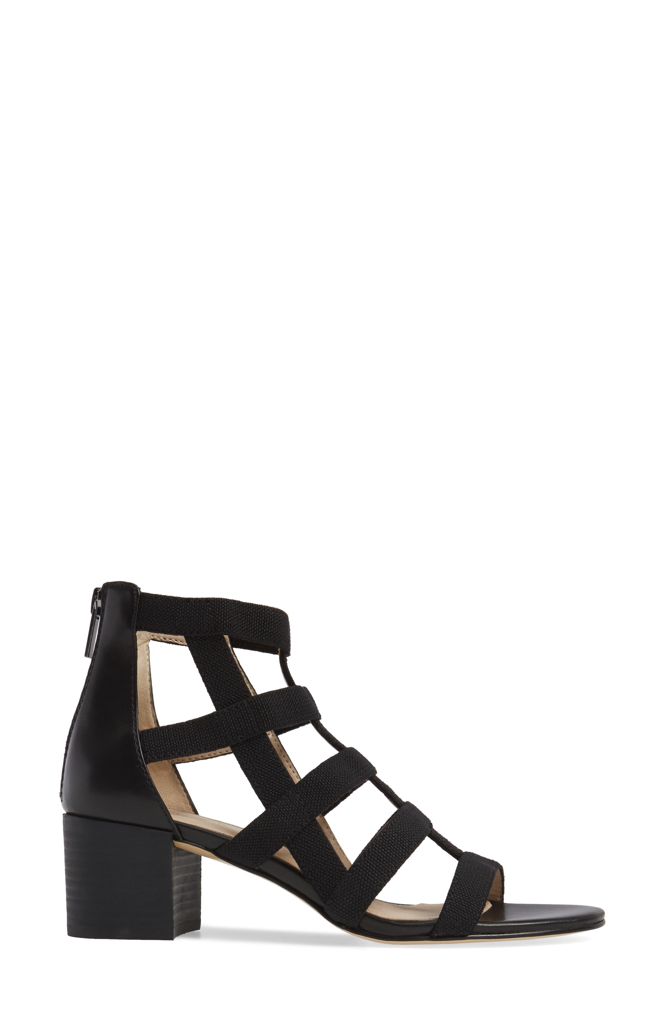 Unkar Block Heel Sandal,                             Alternate thumbnail 3, color,                             001