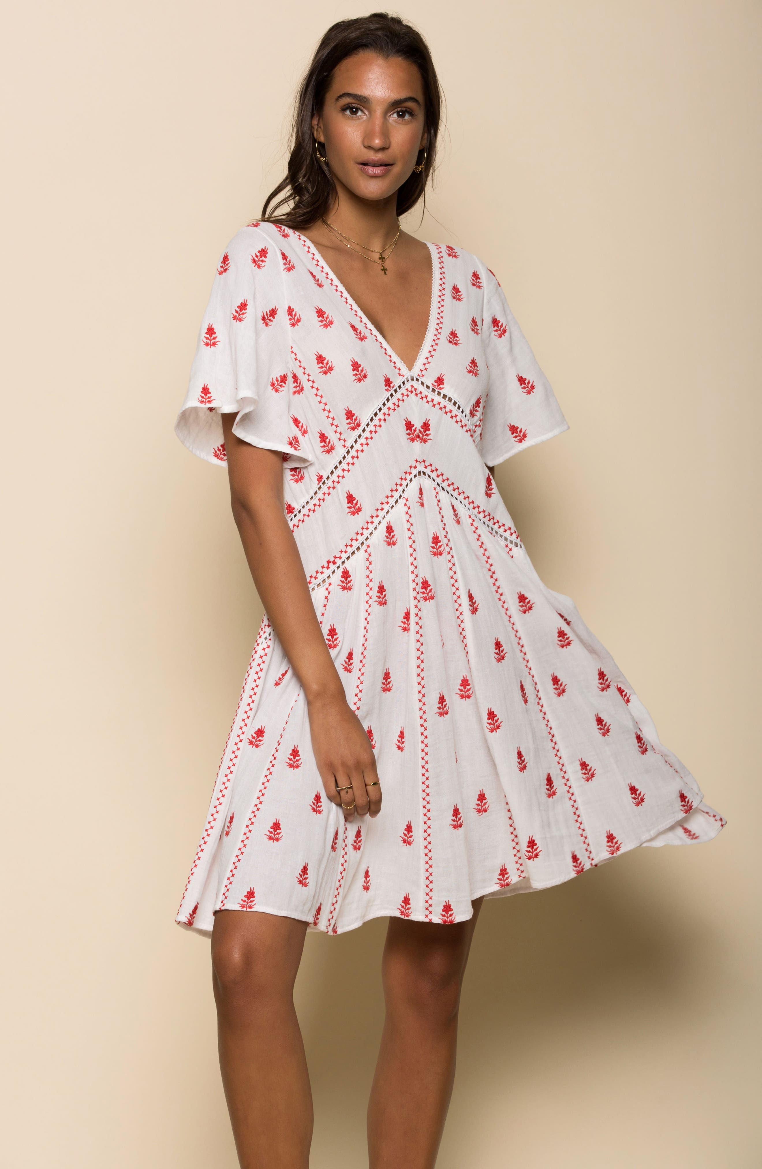 Ruby Embroidered Dress,                             Alternate thumbnail 8, color,