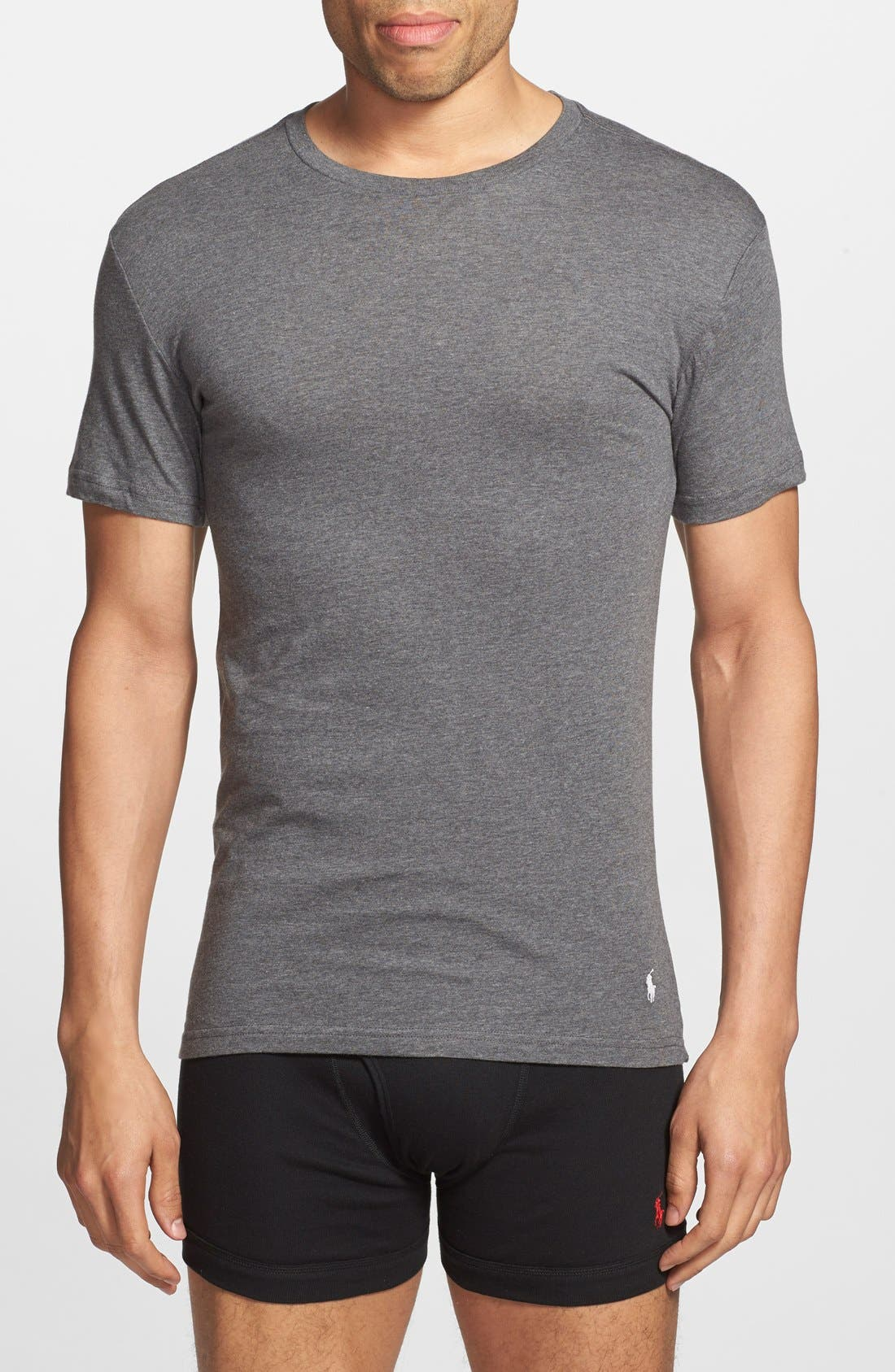 3-Pack Slim Fit T-Shirt,                             Main thumbnail 1, color,                             BLACK/ GREY/ CHARCOAL